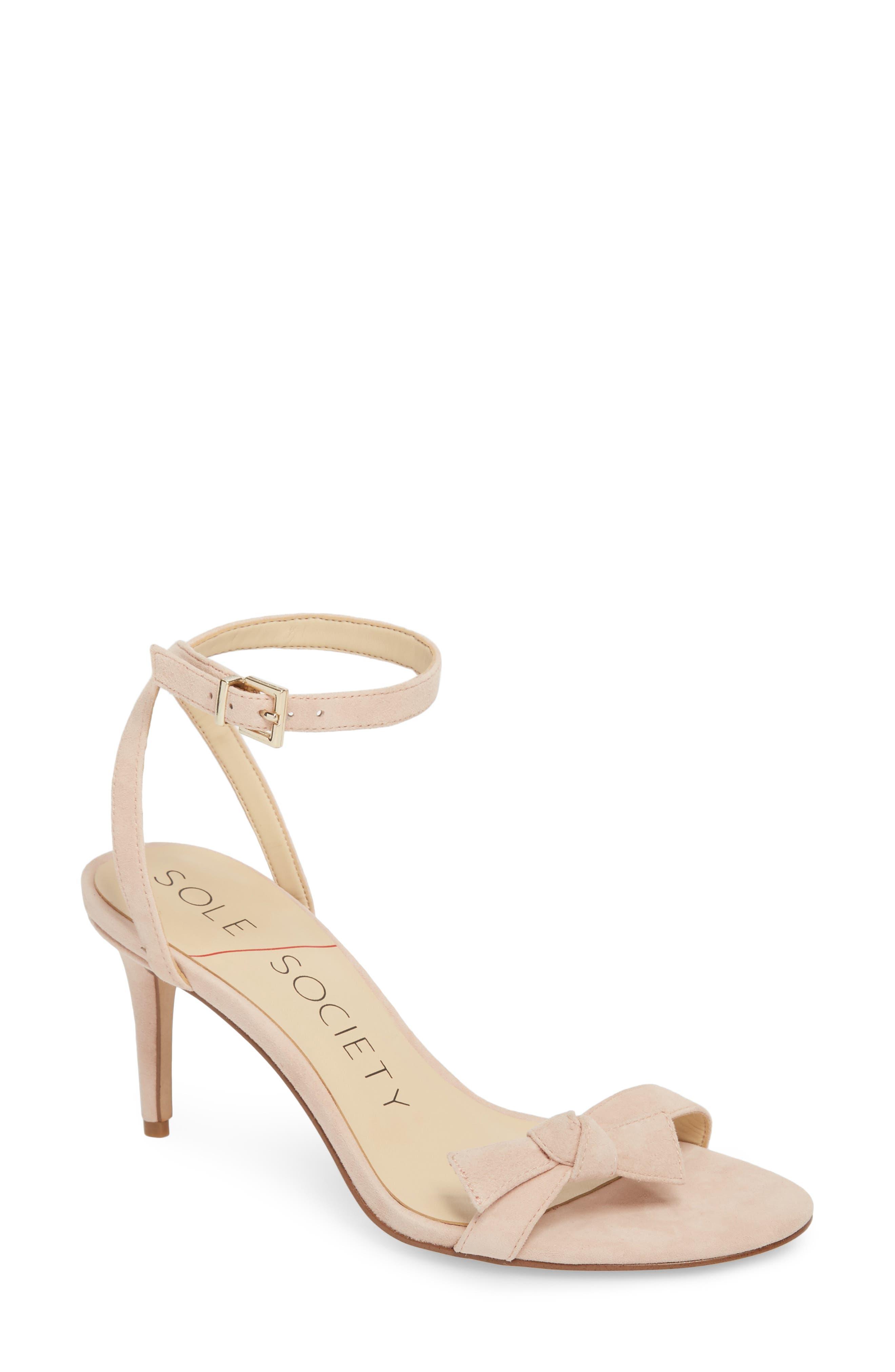 Avrilie Knotted Sandal,                         Main,                         color, BLUSH