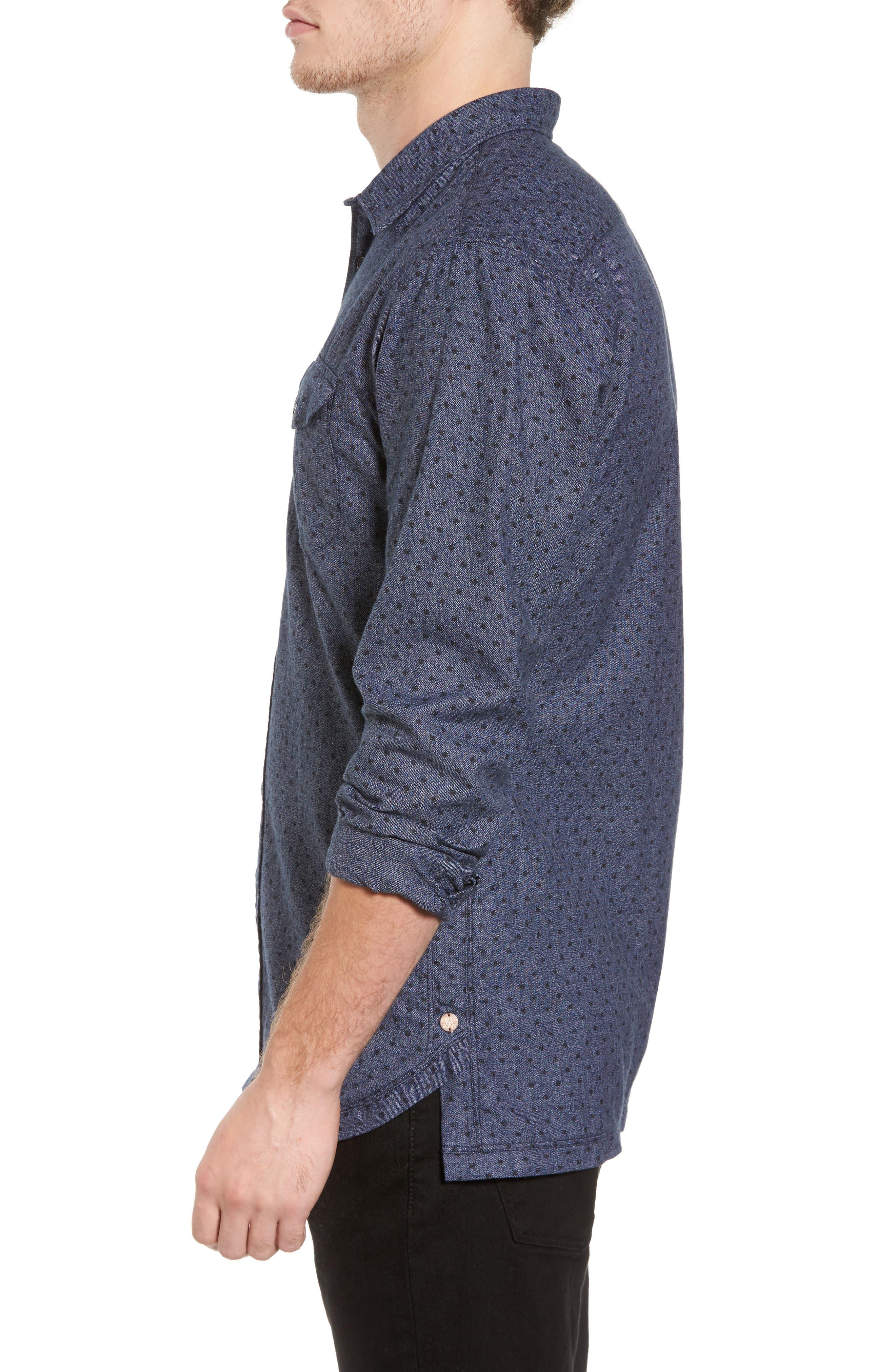 Classic Fit Print Shirt,                             Alternate thumbnail 3, color,                             410
