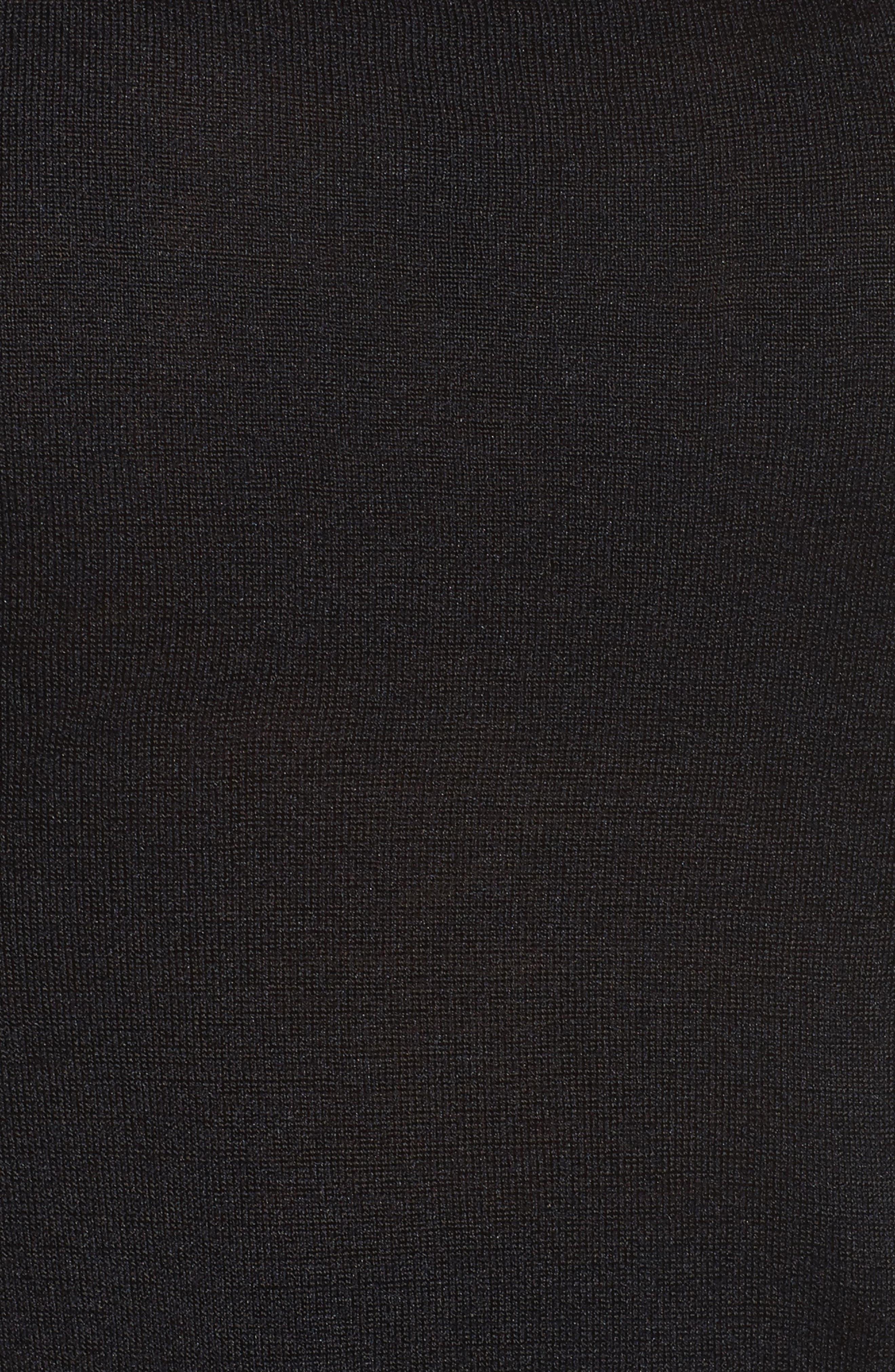 Chiffon Trim Tank,                             Alternate thumbnail 6, color,                             BLACK ONYX