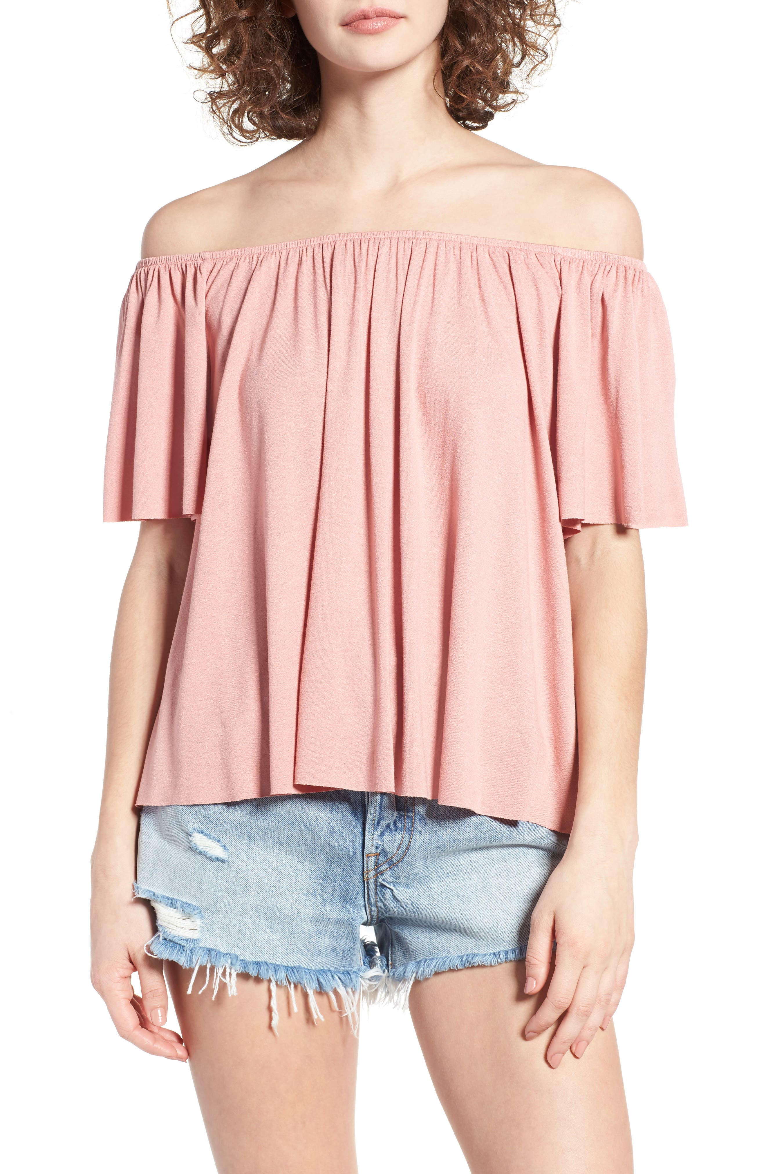 Off the Shoulder Top,                             Main thumbnail 8, color,
