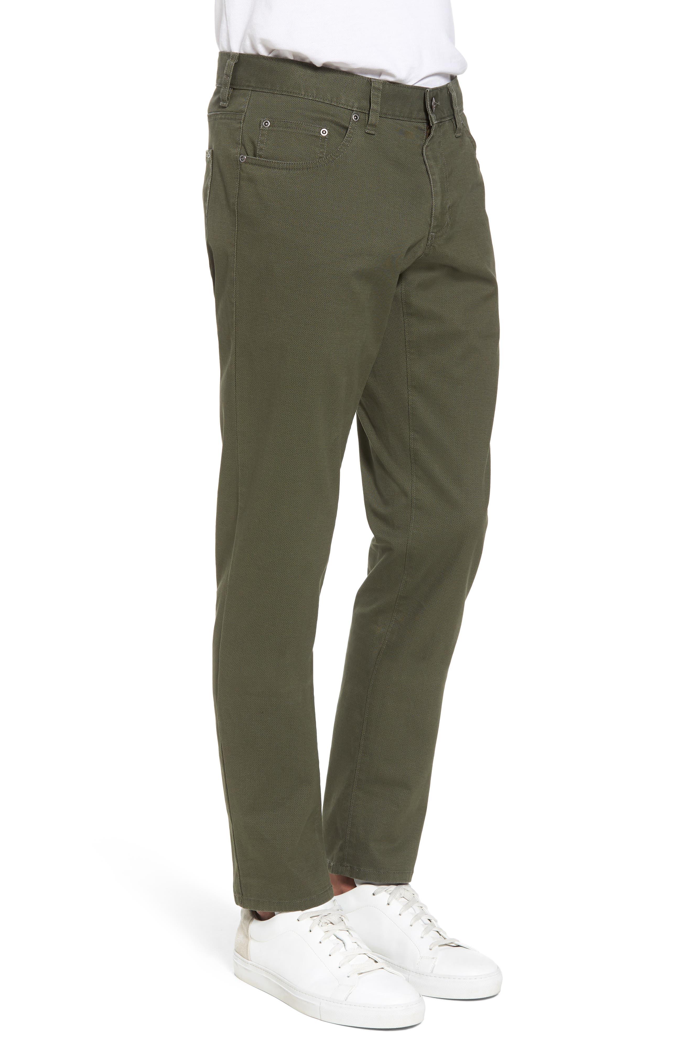 Textured Stretch Cotton Pants,                             Alternate thumbnail 3, color,                             301