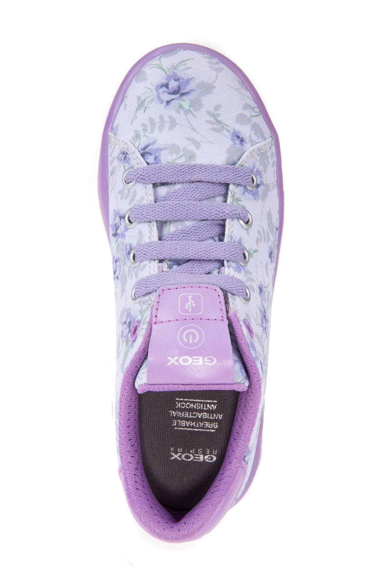 Kommodor Light-Up Sneaker,                             Alternate thumbnail 4, color,                             LIGHT LILAC/ LILAC