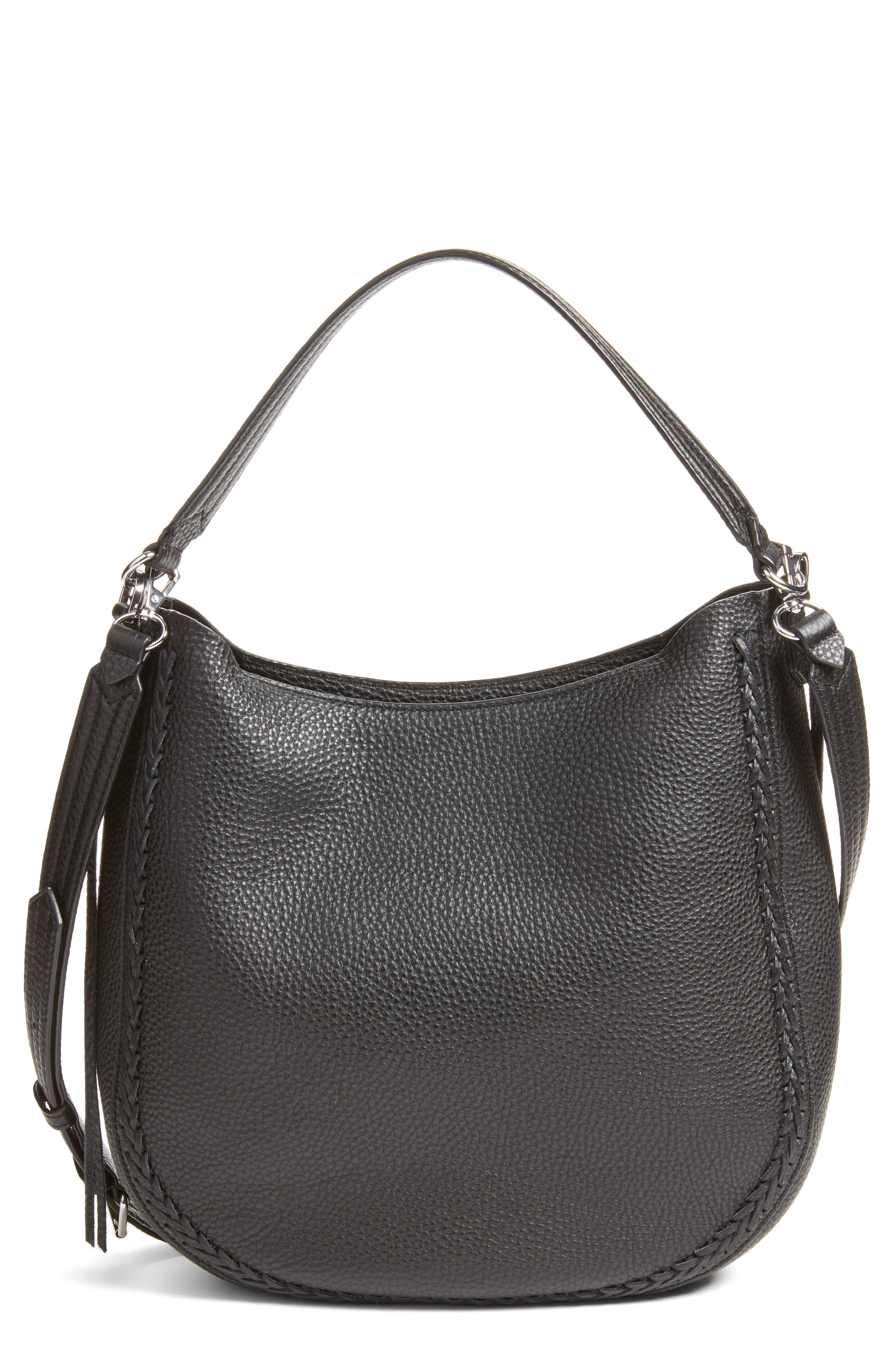 Unlined Convertible Whipstitch Hobo,                             Main thumbnail 1, color,