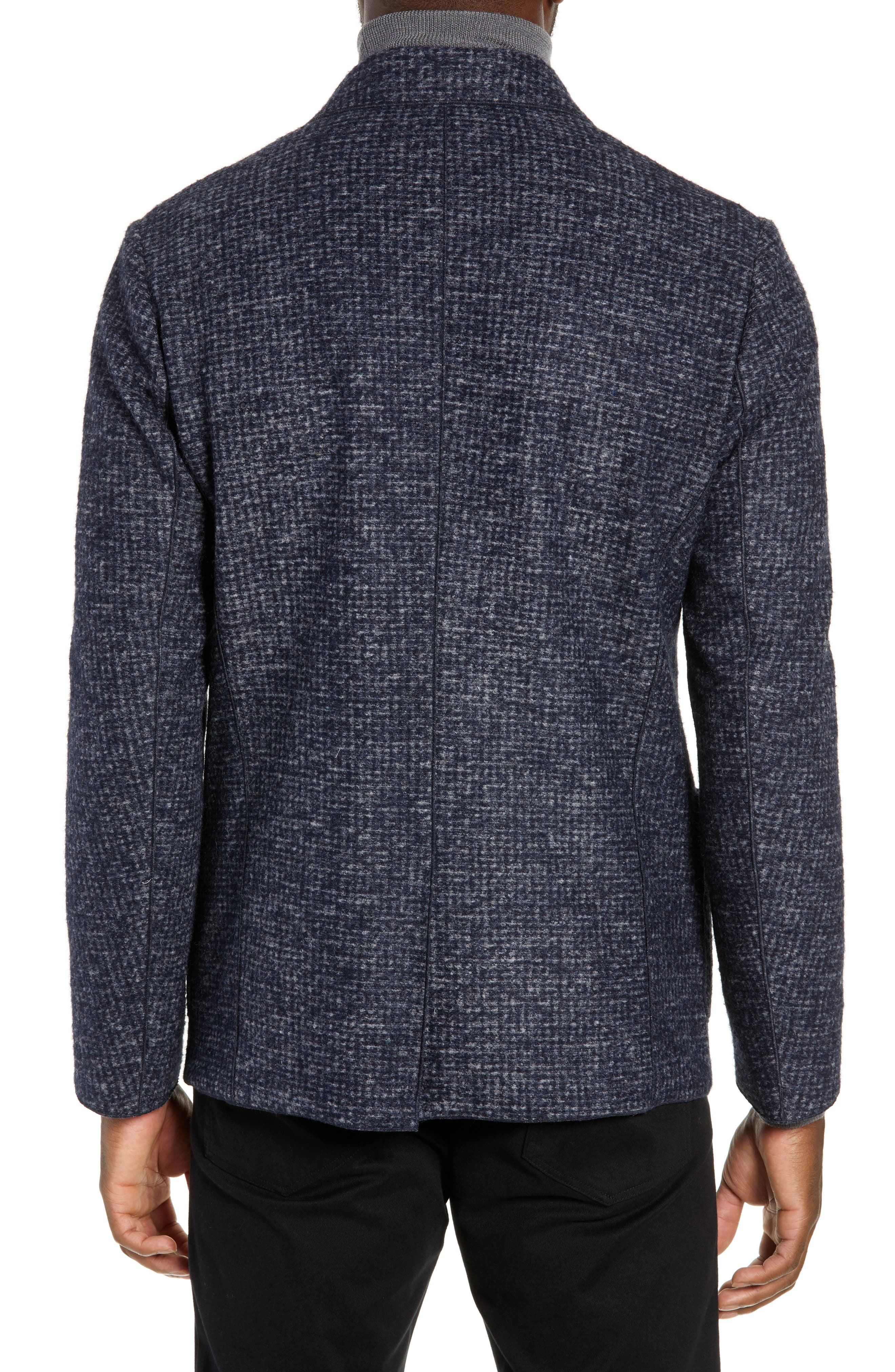 Randolph Houndstooth Knit Sport Coat,                             Alternate thumbnail 2, color,                             DARK BLUE