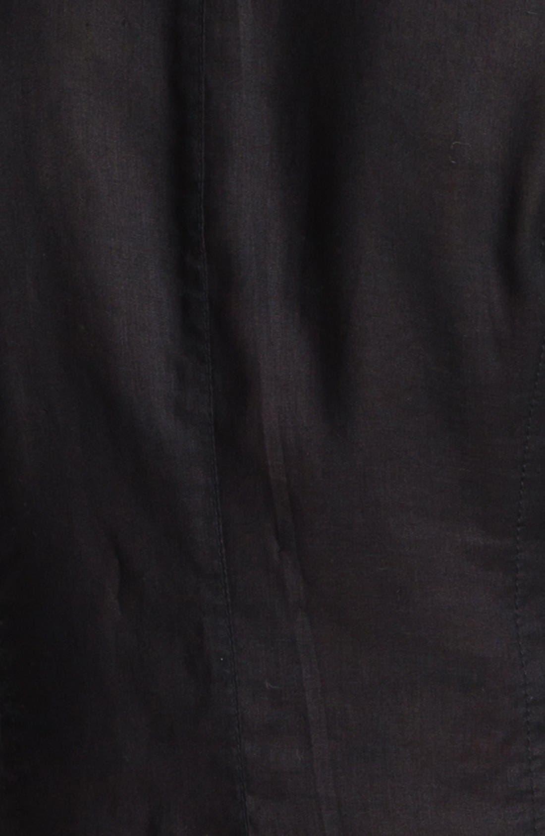 Two Button Linen Jacket,                             Alternate thumbnail 4, color,                             001