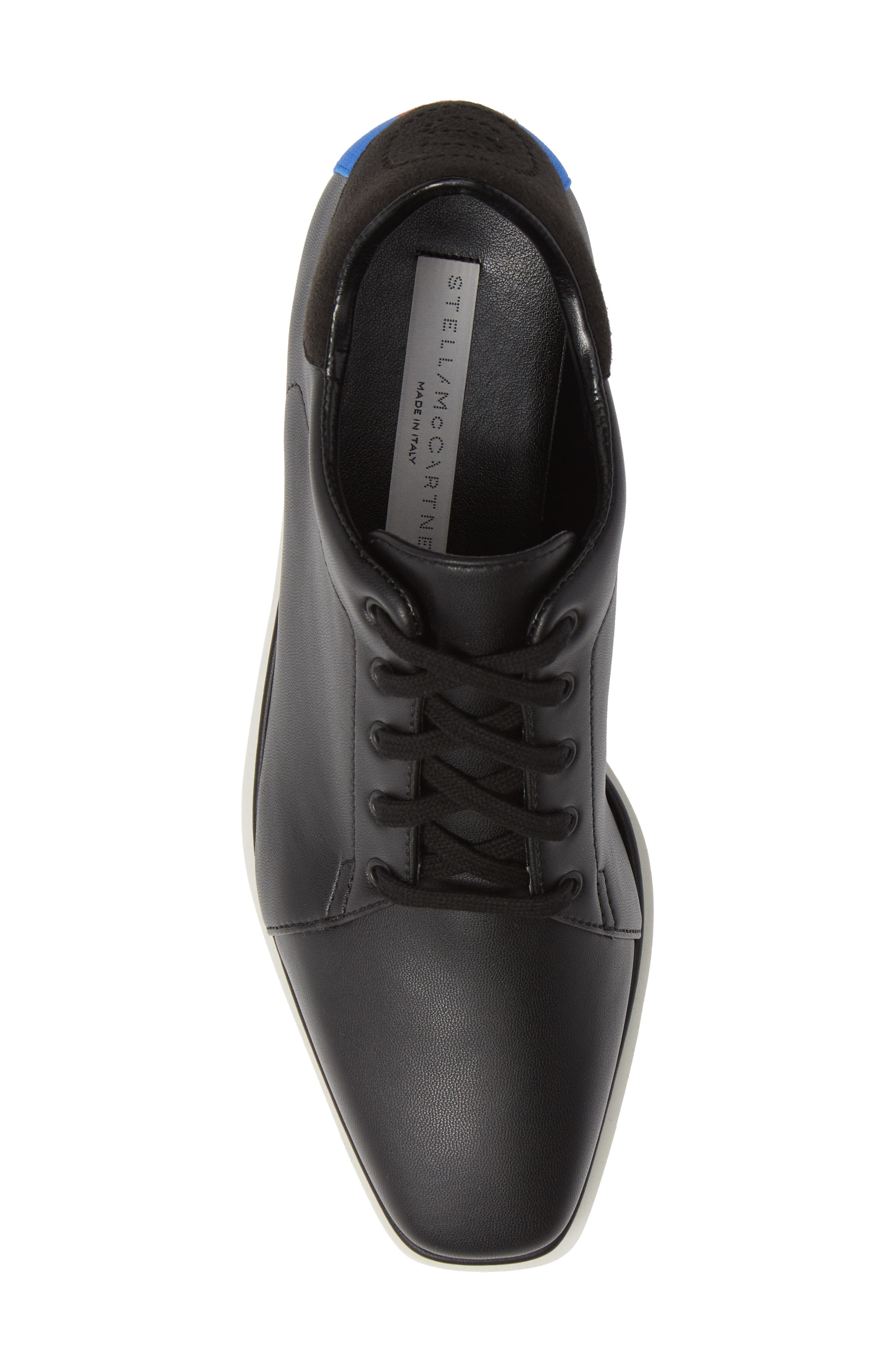 Sneak-Elyse Flatform Sneaker,                             Alternate thumbnail 5, color,                             BLACK