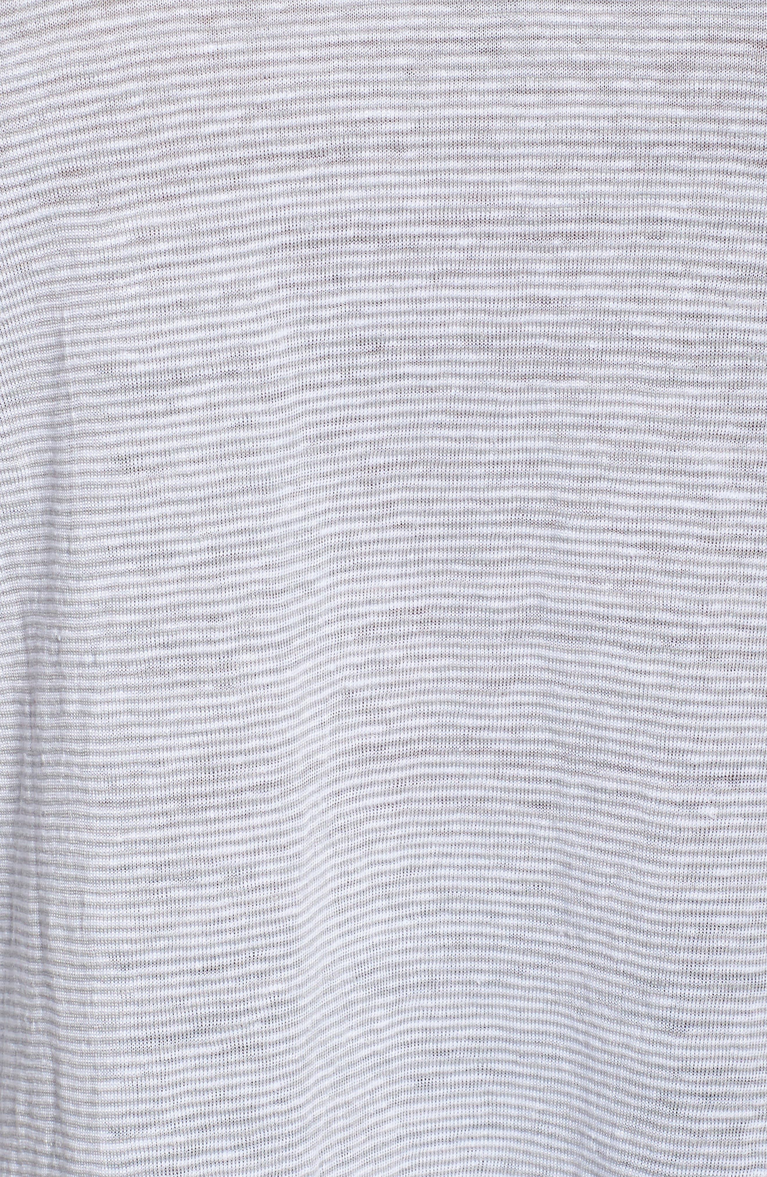 V Neck Organic Linen Box Tee,                             Alternate thumbnail 5, color,                             022