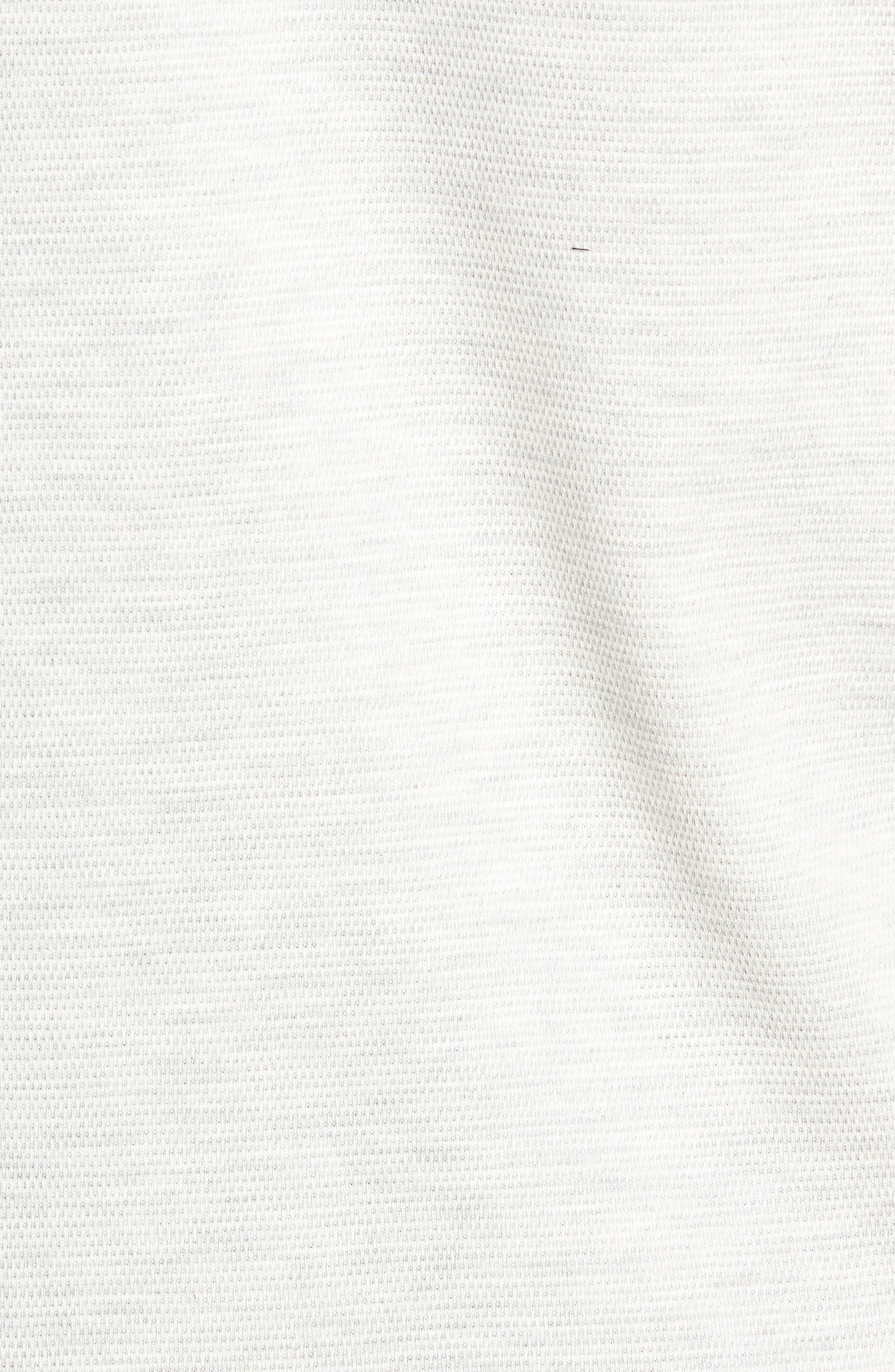 Trim Fit Waffle Knit Shirt,                             Alternate thumbnail 5, color,                             CREME