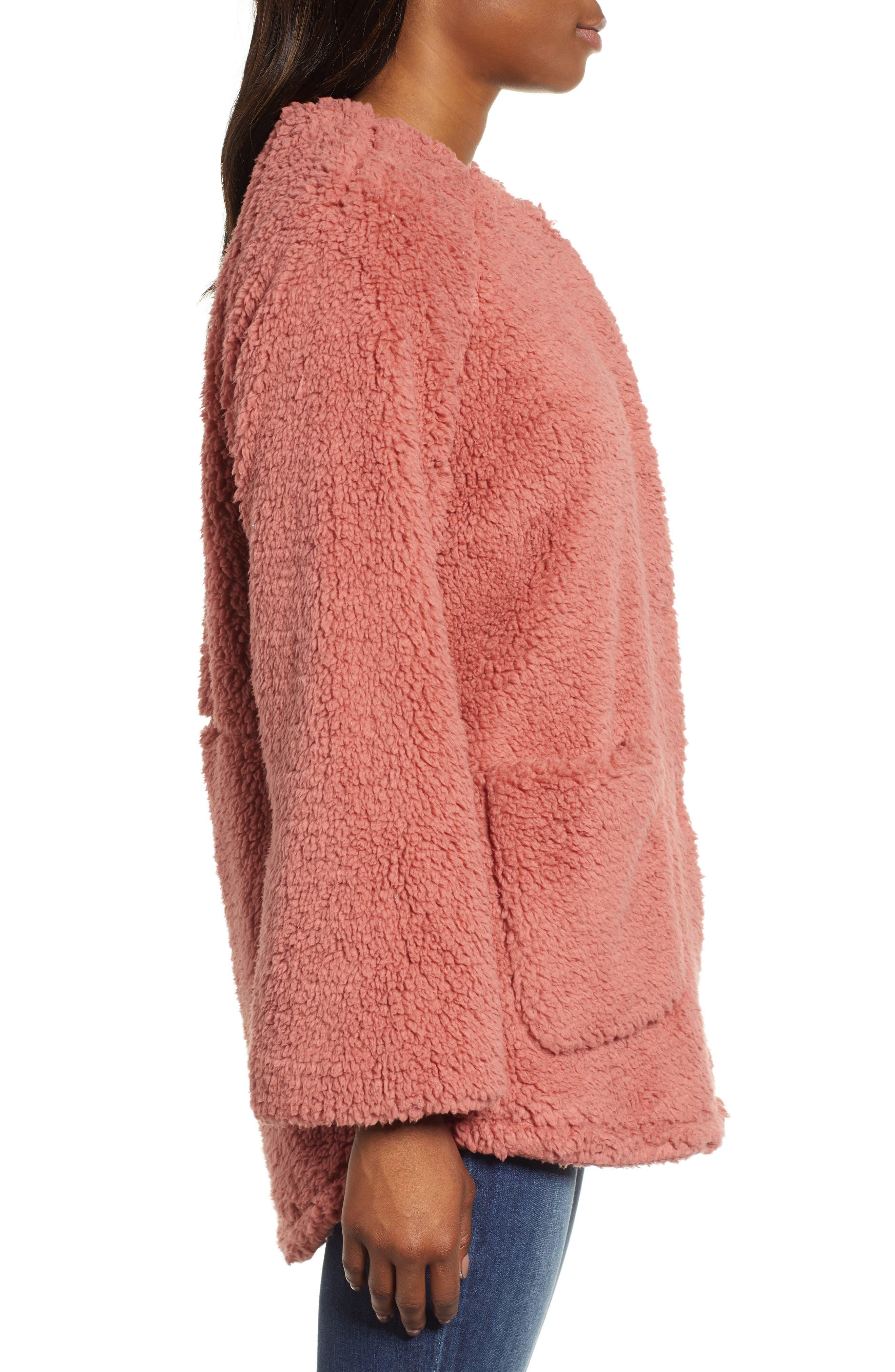 Fuzzy Fleece Jacket,                             Alternate thumbnail 3, color,                             650