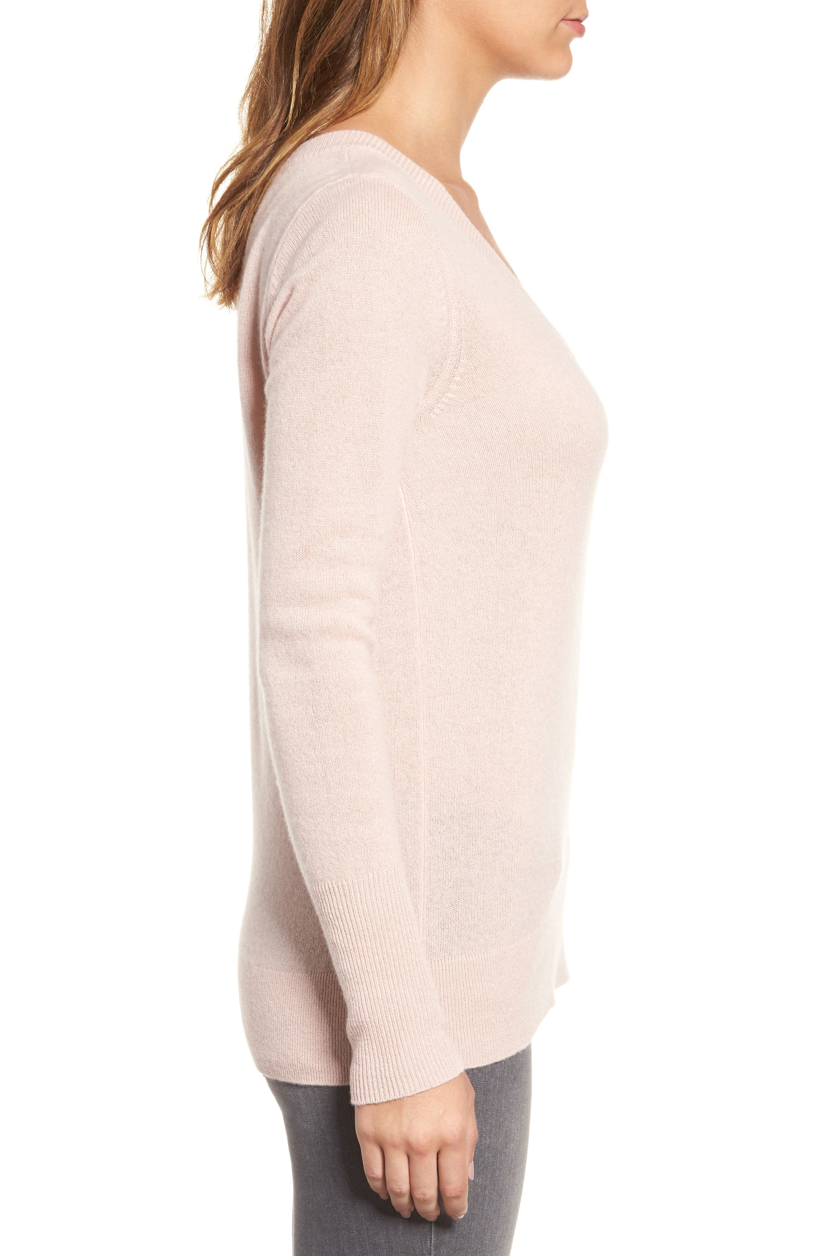 V-Neck Cashmere Sweater,                             Alternate thumbnail 46, color,