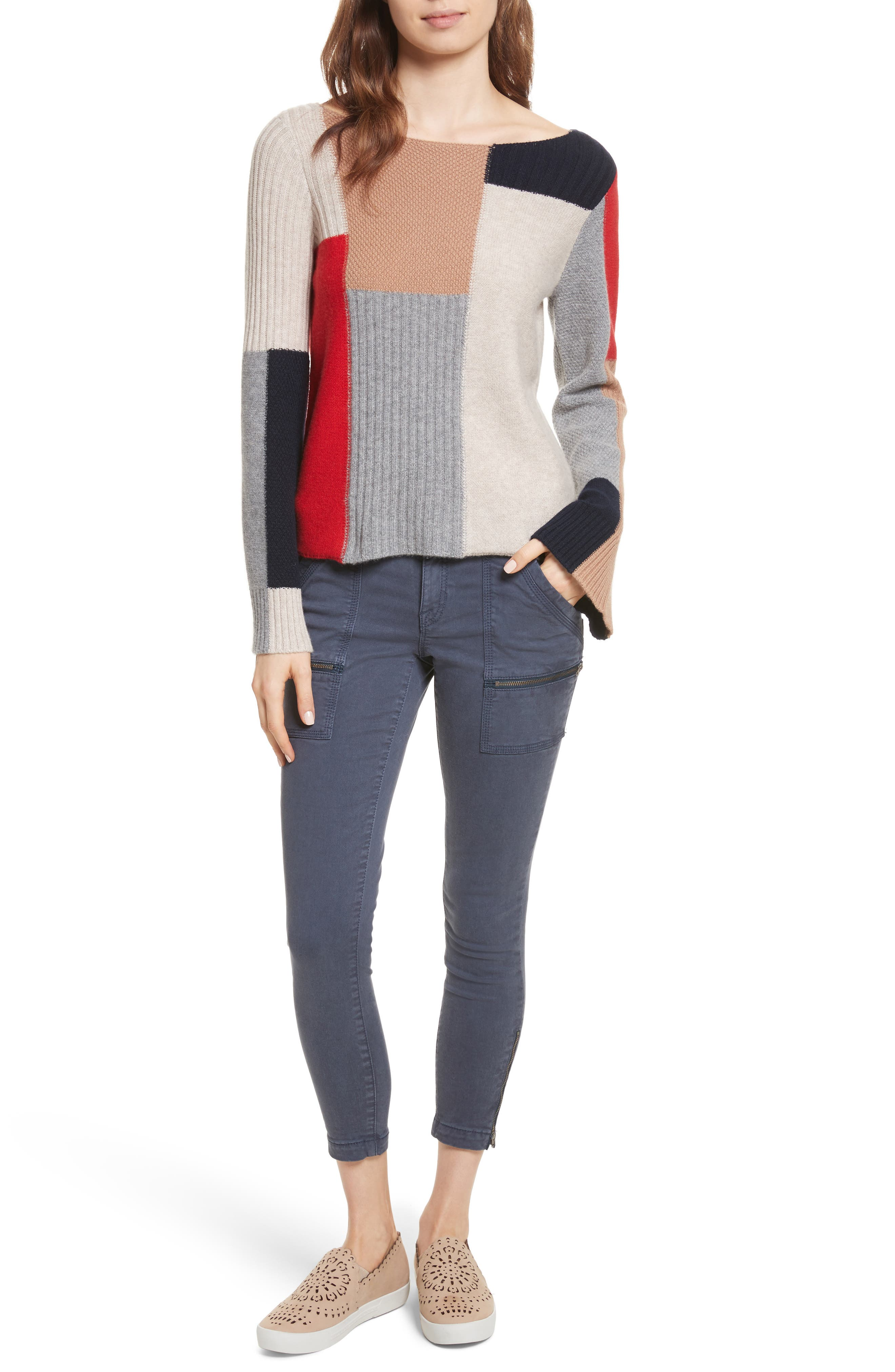 Adene Wool & Cashmere Sweater,                             Alternate thumbnail 7, color,                             641