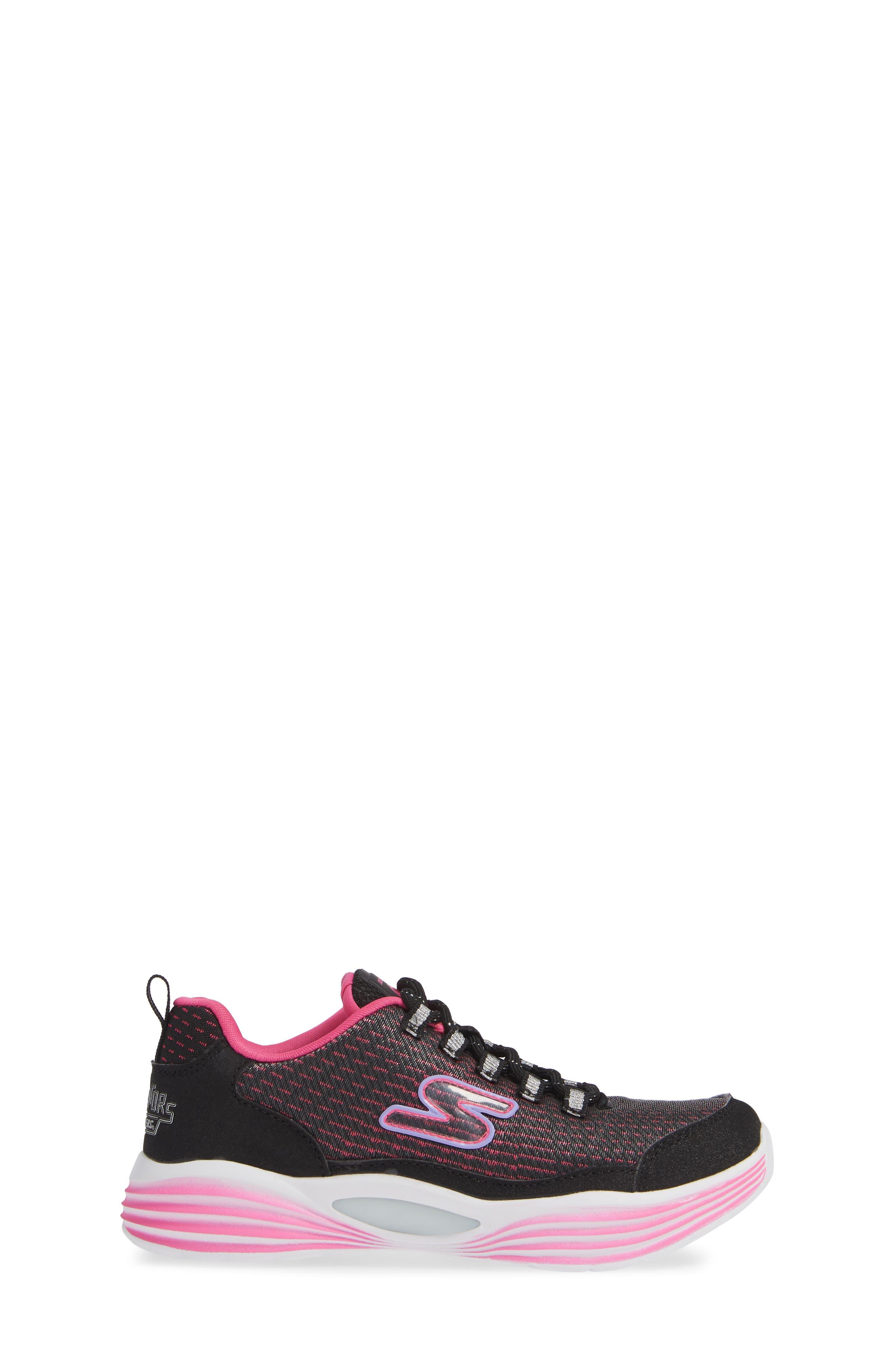 Luminator Light Up Sneaker,                             Alternate thumbnail 3, color,                             BLACK/ PINK