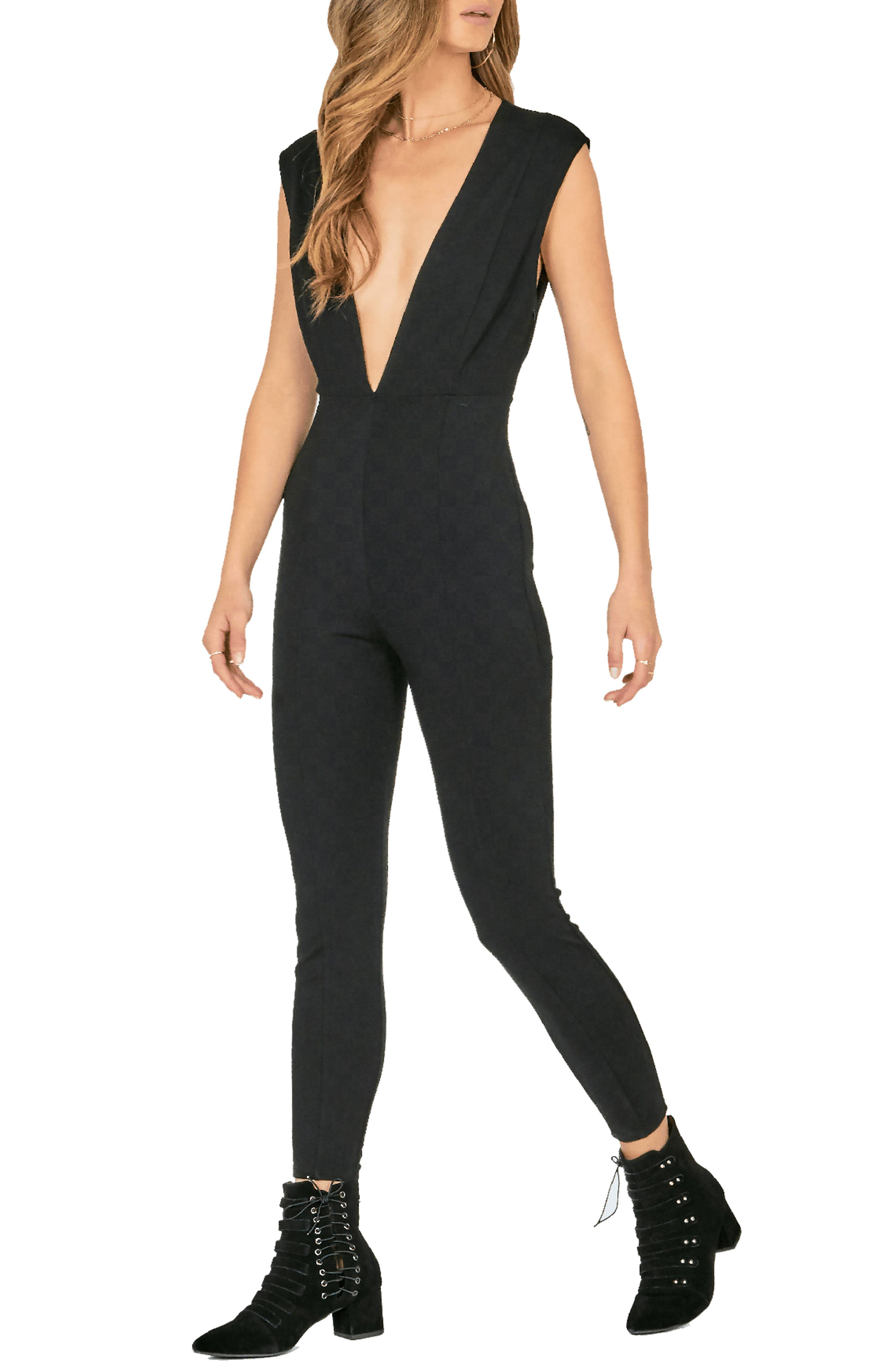 AMUSE SOCIETY Cat'S Meow Jumpsuit in Black