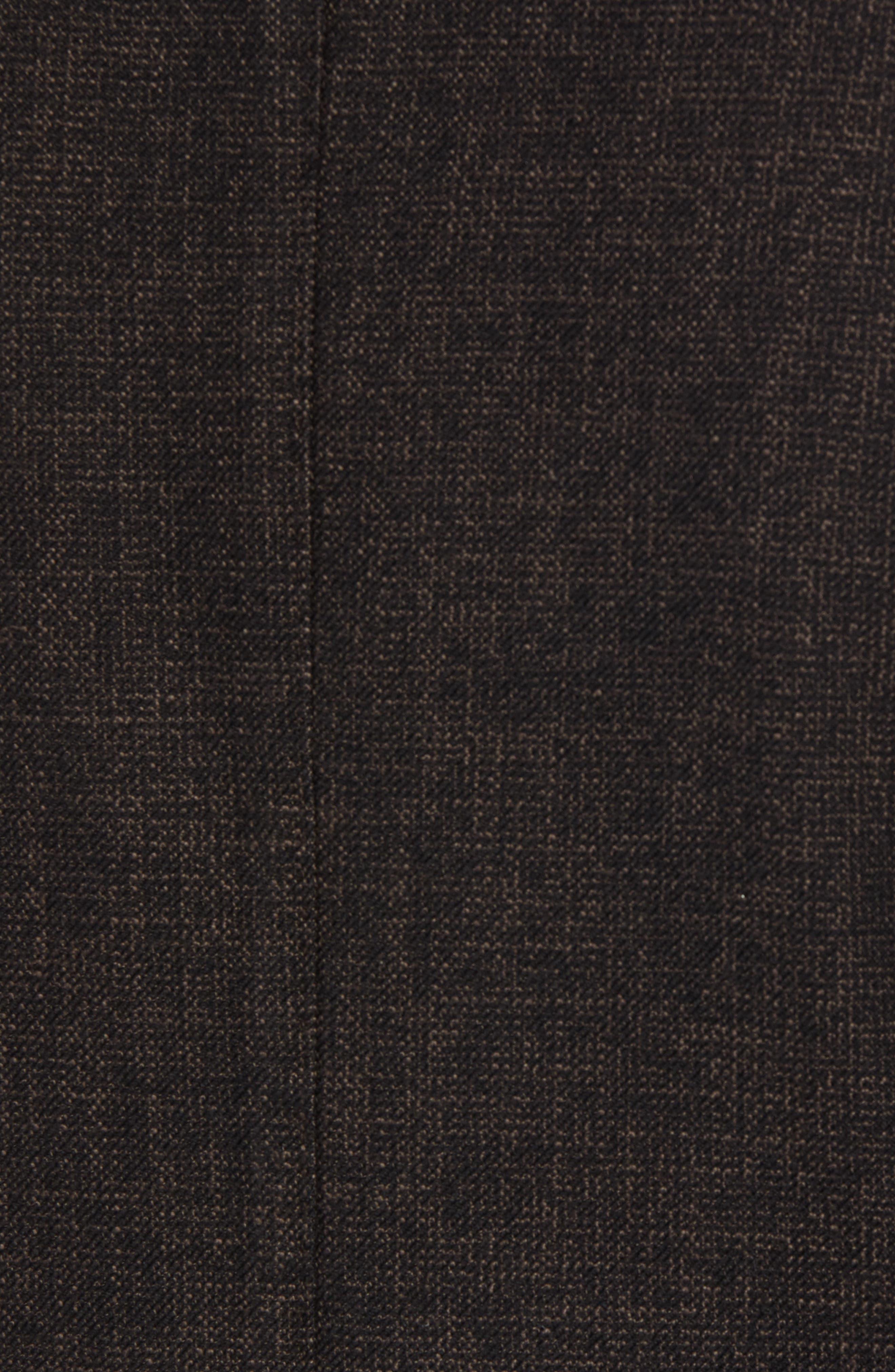 L.B.M 1911 Classic Fit Cotton & Wool Blazer,                             Alternate thumbnail 6, color,                             BROWN
