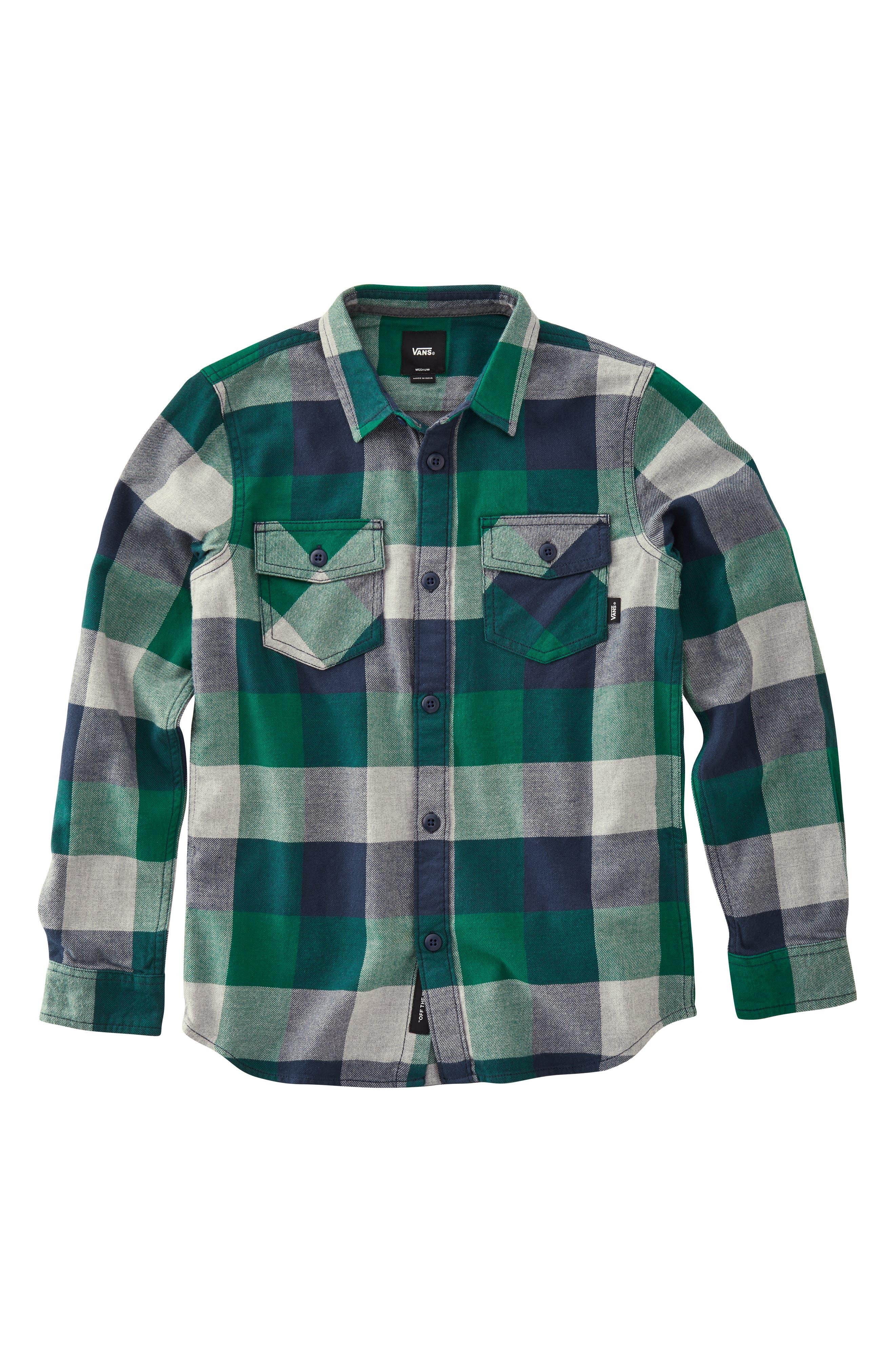 Flannel Shirt, Main, color, 020