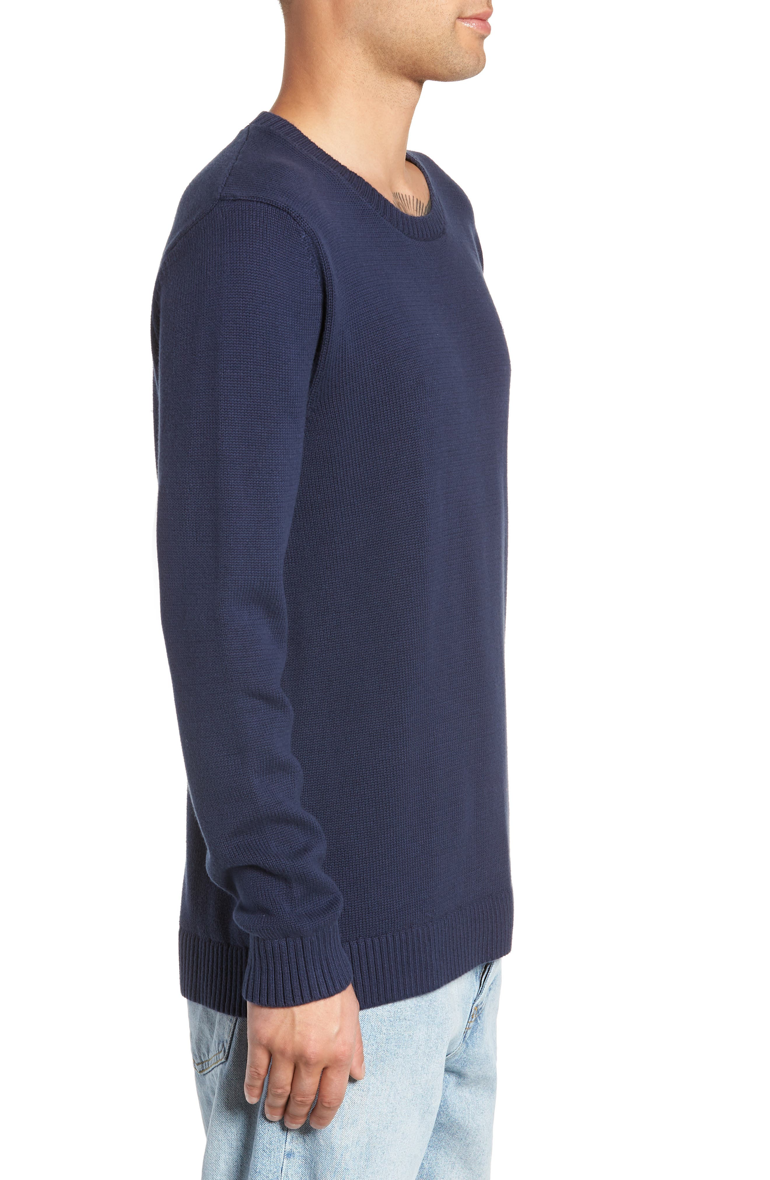 TJM Tommy Classics Sweater,                             Alternate thumbnail 3, color,                             BLACK IRIS