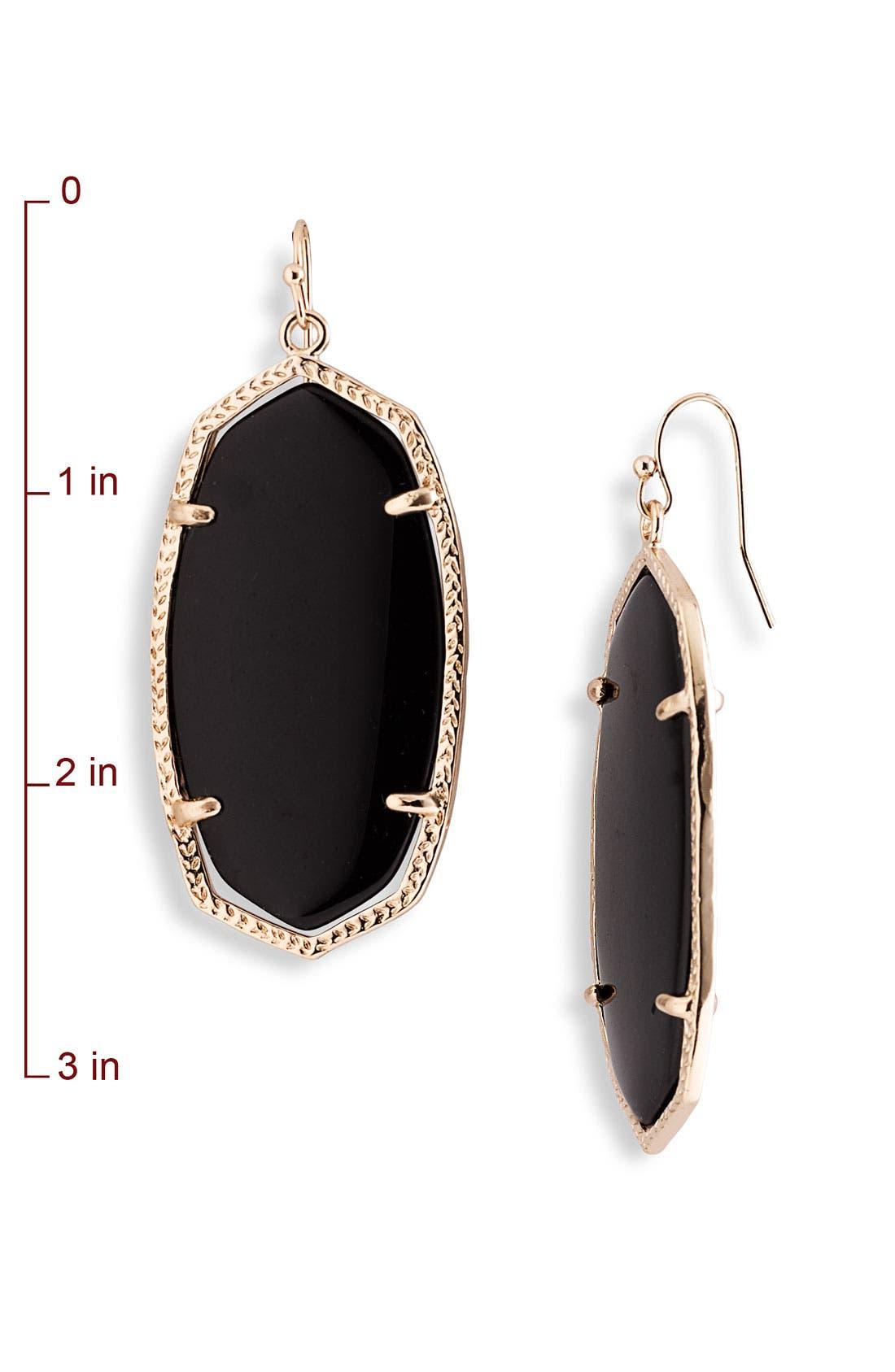 'Danielle' Oval Statement Earrings,                             Alternate thumbnail 5, color,                             001