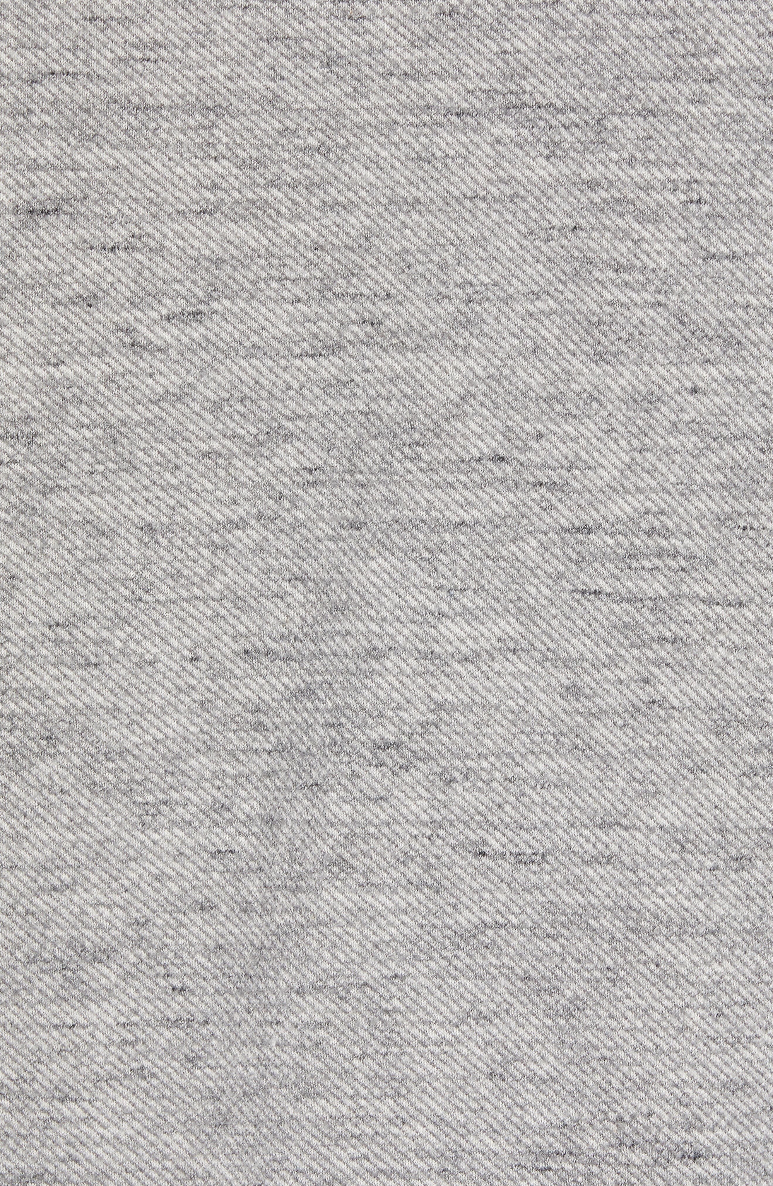 On the Doubles Mock Neck Quarter Zip Pullover,                             Alternate thumbnail 7, color,                             STEEL WOOL HEATHER