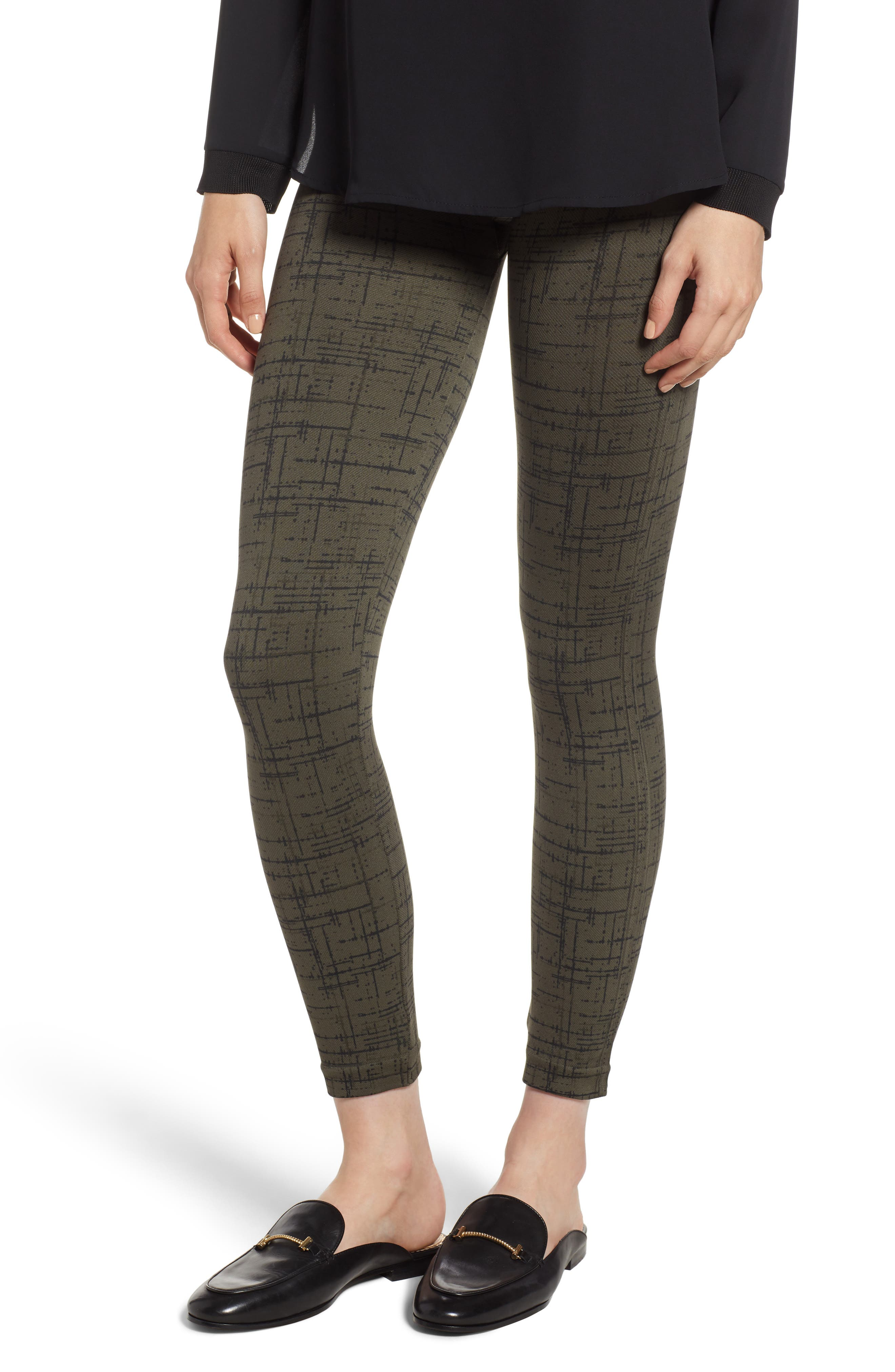 Look at Me Now' Seamless Leggings,                             Alternate thumbnail 2, color,                             OLIVE CROSSHATCH