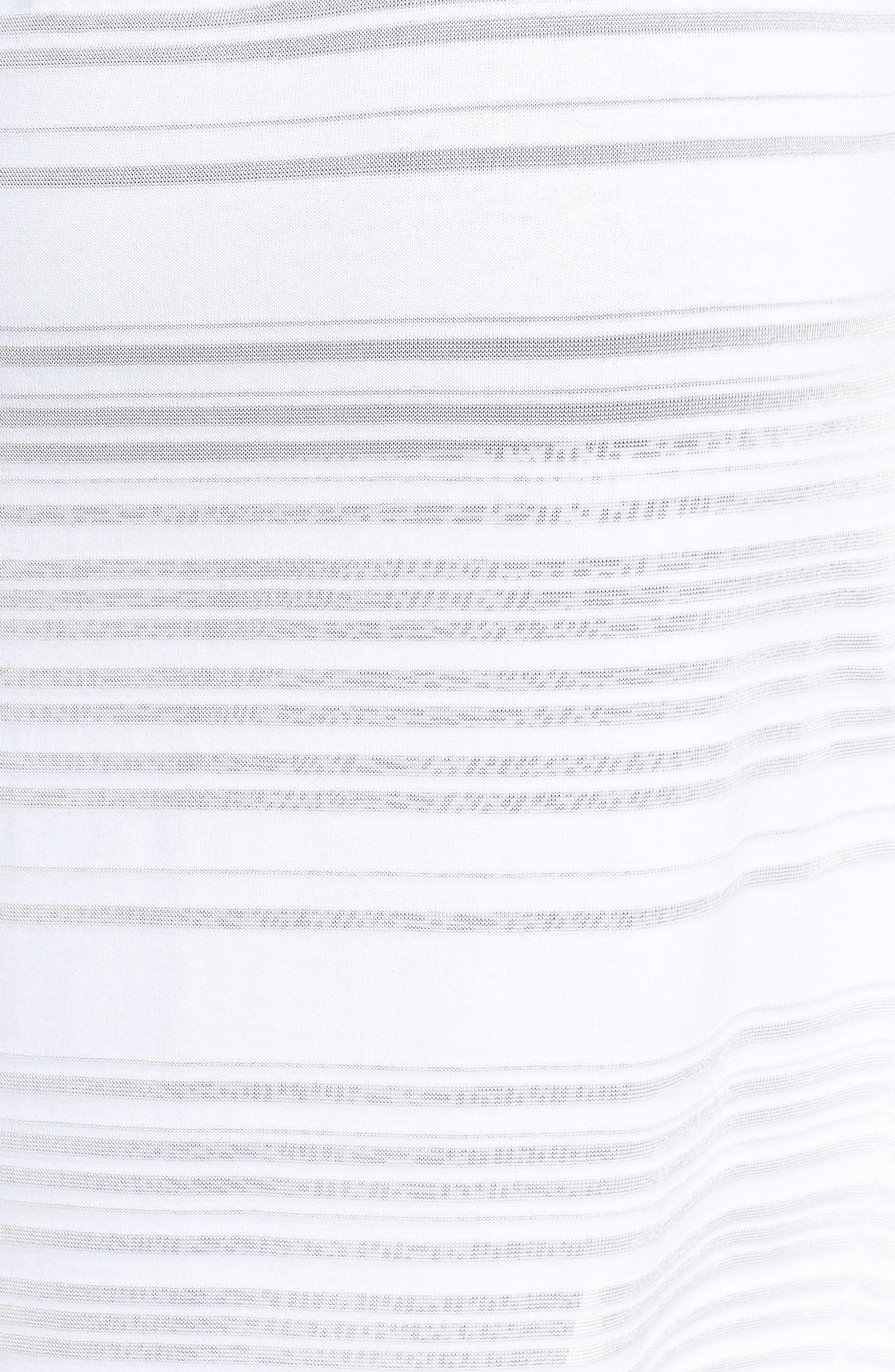 Shadow Stripe Cotton Blend Cardigan,                             Alternate thumbnail 5, color,