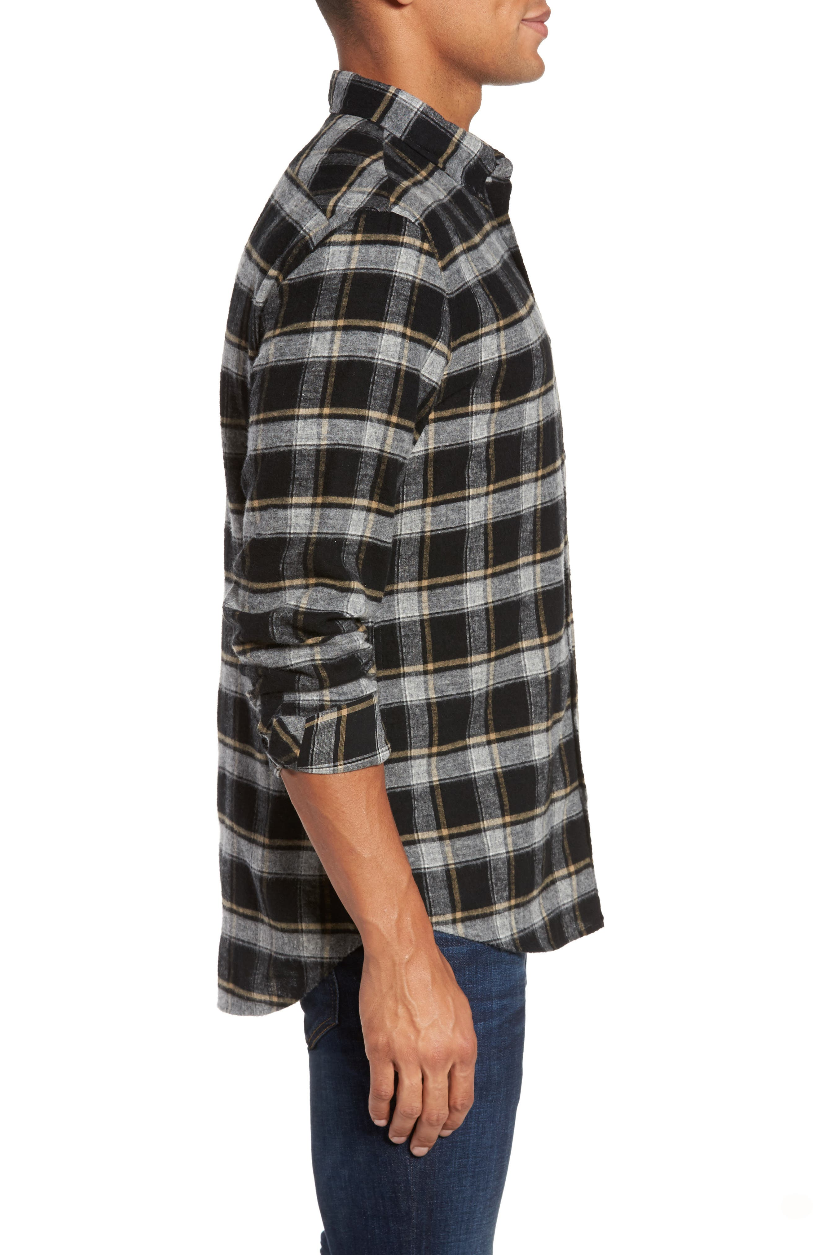 Murphy Slim Fit Check Sport Shirt,                             Alternate thumbnail 3, color,                             011