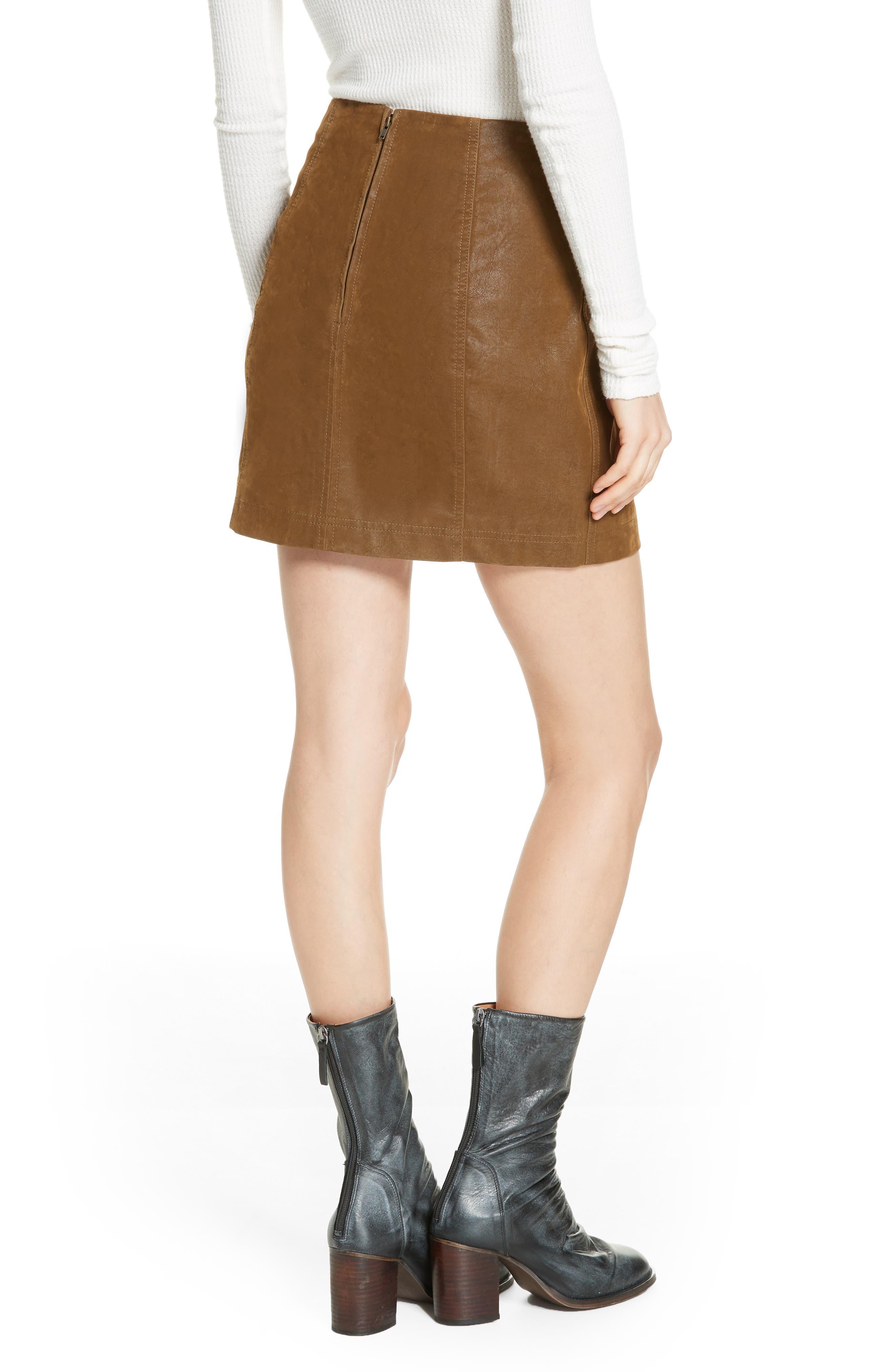 Faux Leather Miniskirt,                             Alternate thumbnail 2, color,                             394