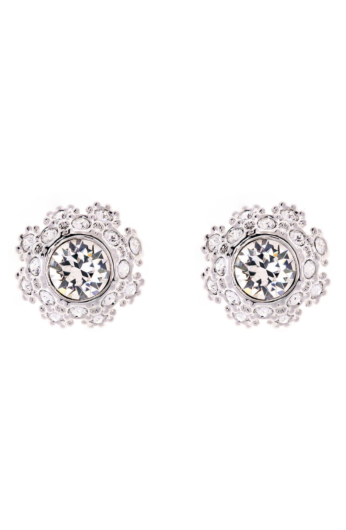 Crystal Daisy Lace Stud Earrings,                             Main thumbnail 2, color,