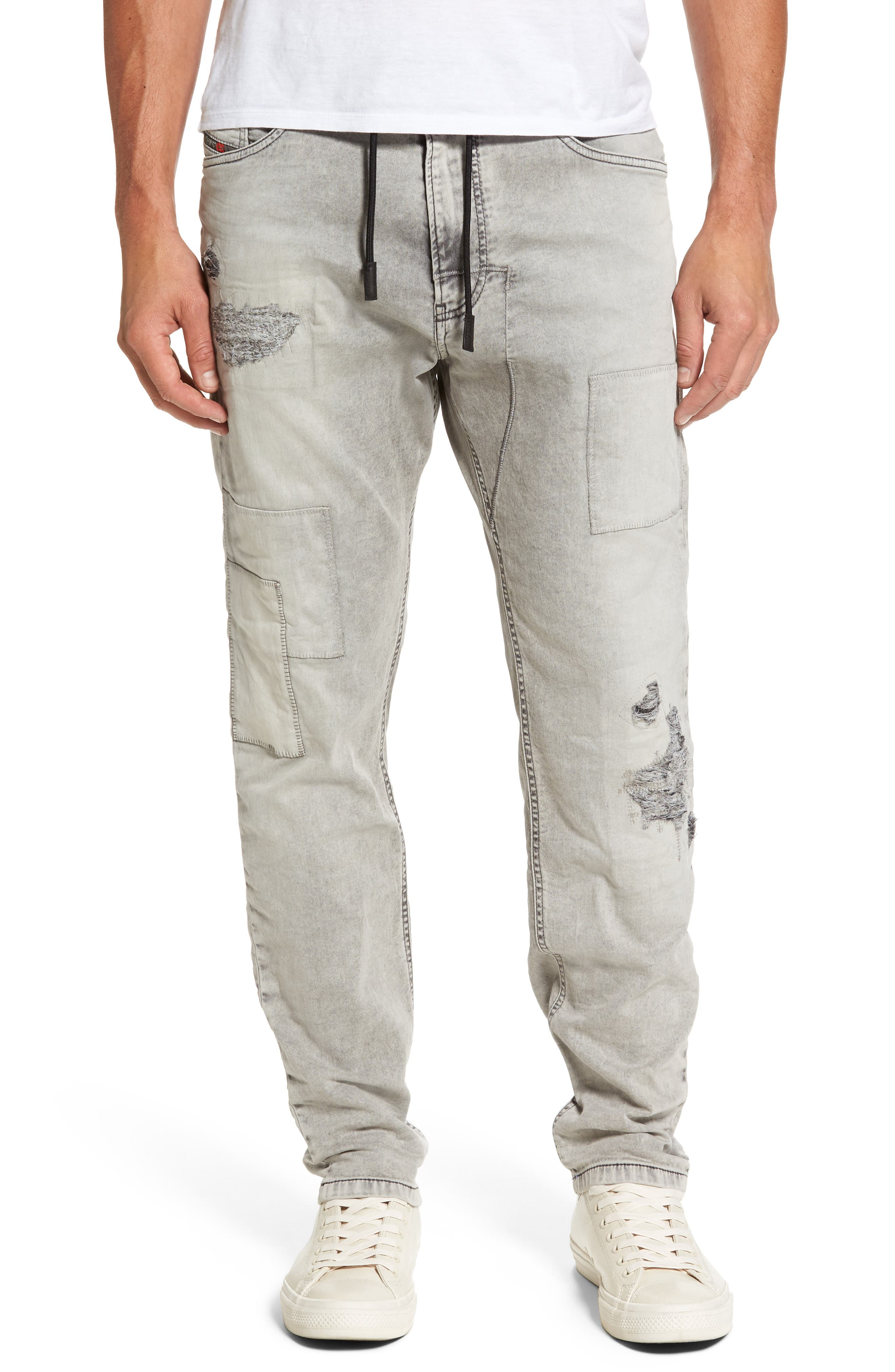 Narrot Slouchy Skinny Fit Jeans,                             Main thumbnail 1, color,                             008