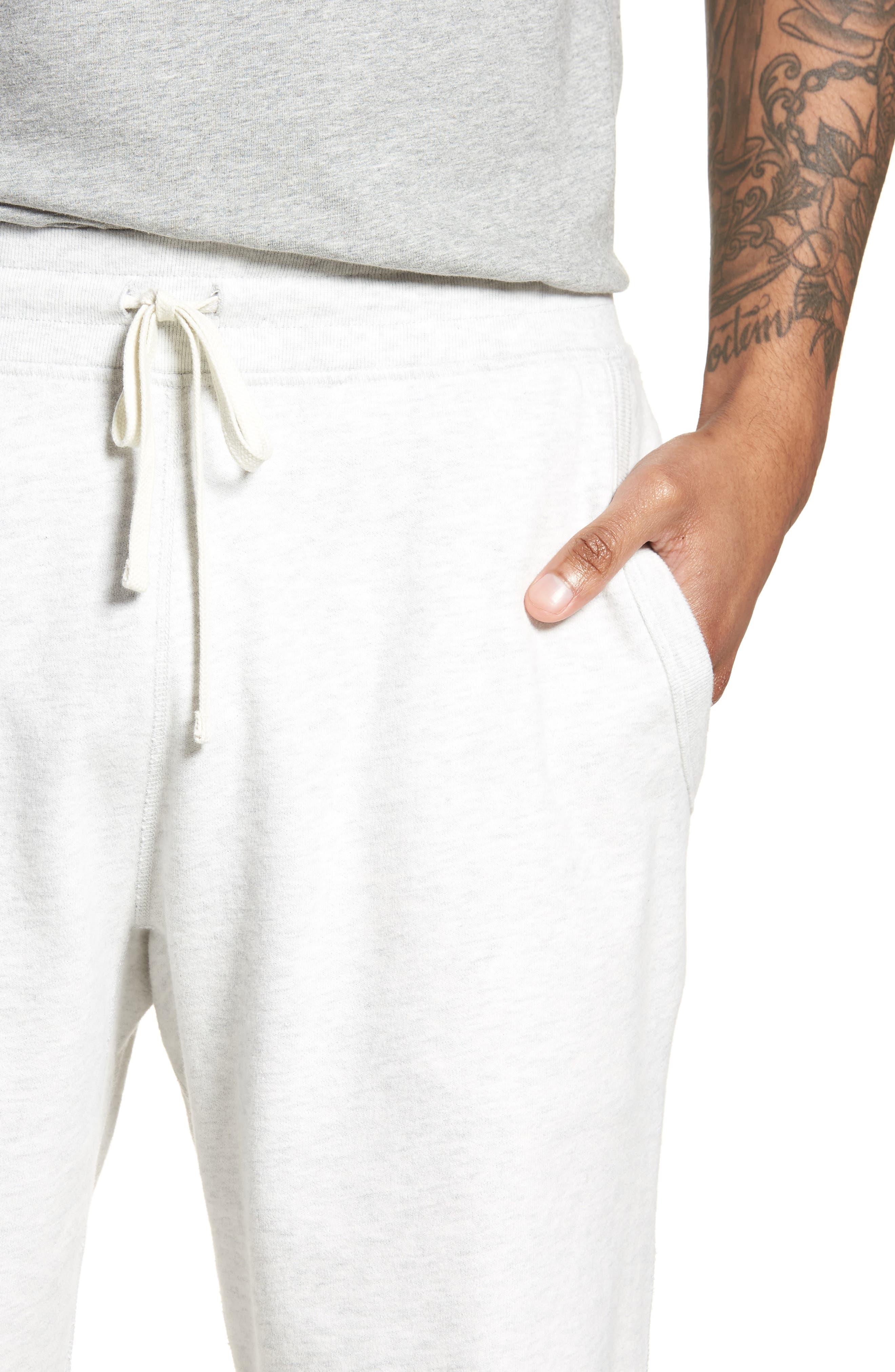 Raw Edge Drawstring Shorts,                             Alternate thumbnail 4, color,                             100