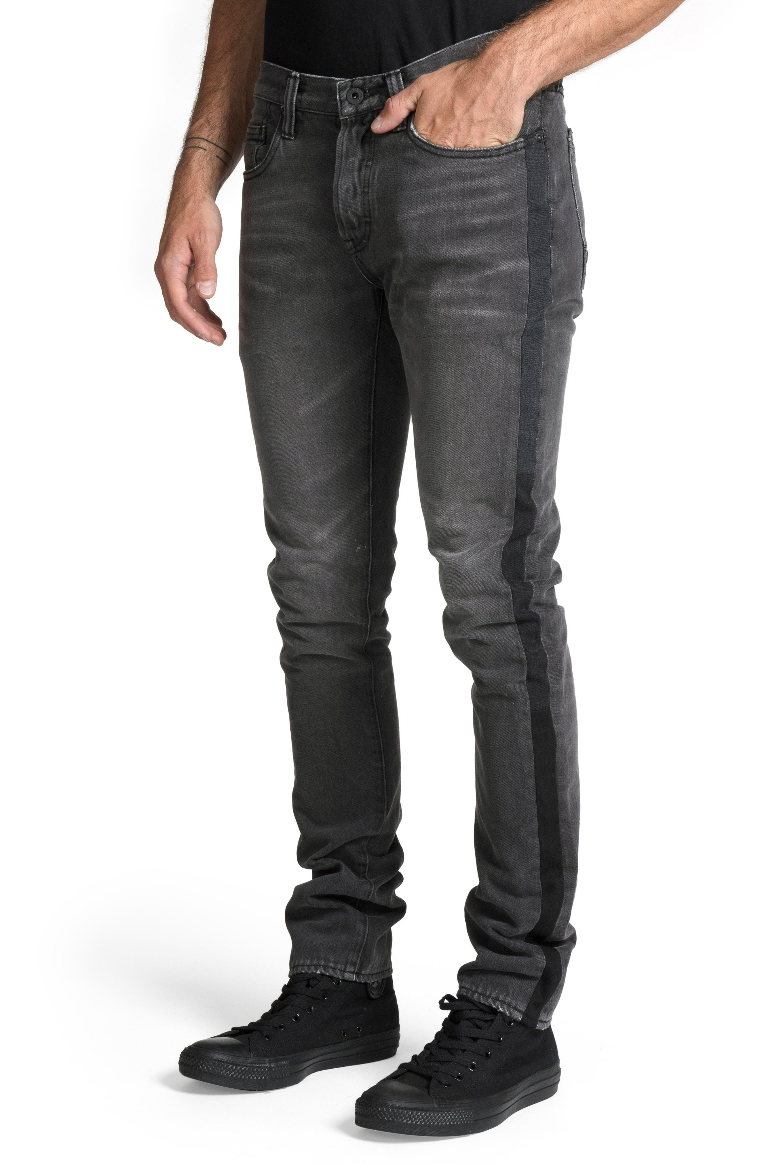 Le Sabre Slim Fit Jeans,                             Alternate thumbnail 3, color,                             ABHORRENT
