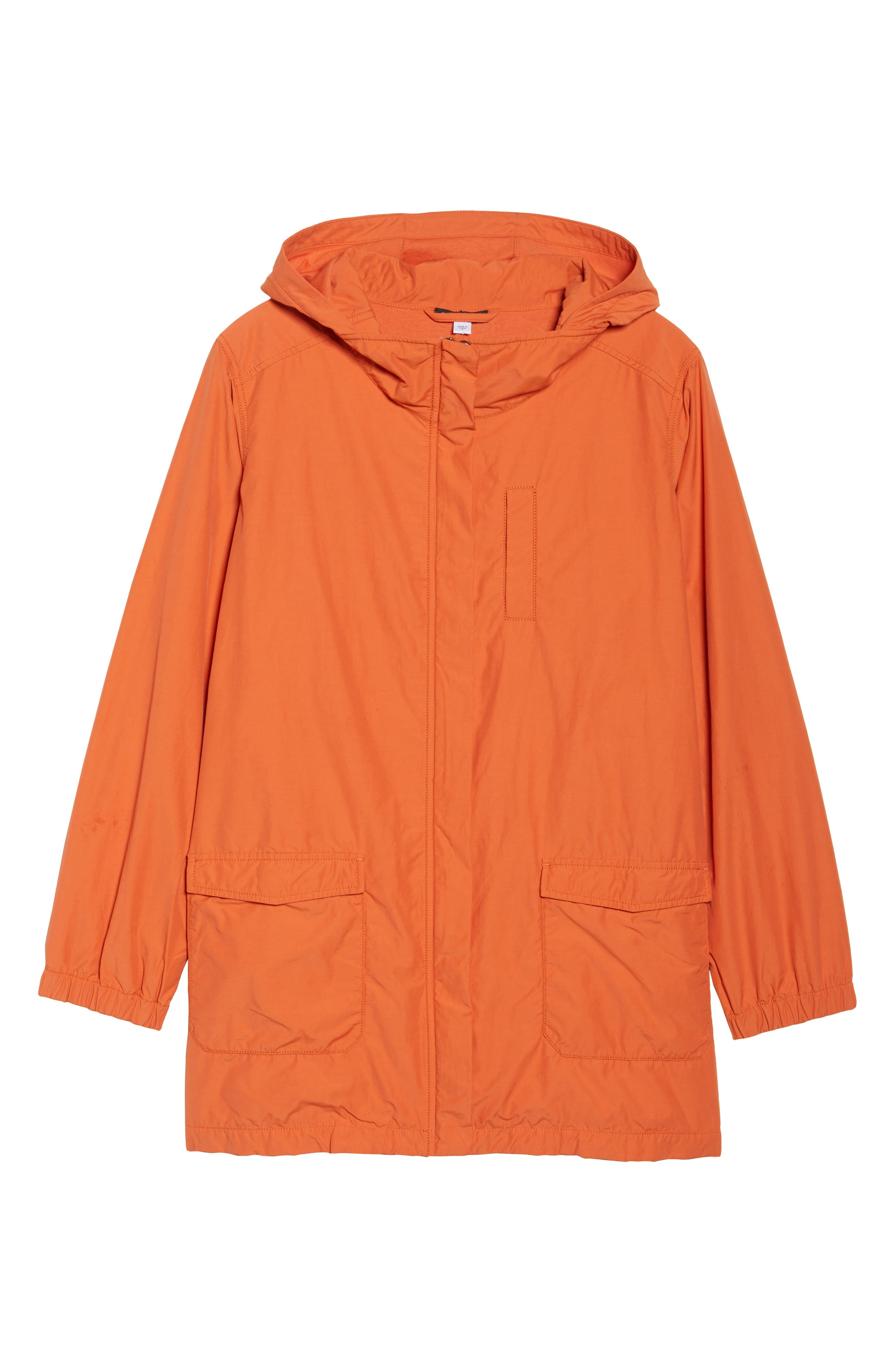 Hooded Organic Cotton Blend Jacket,                             Alternate thumbnail 5, color,                             001