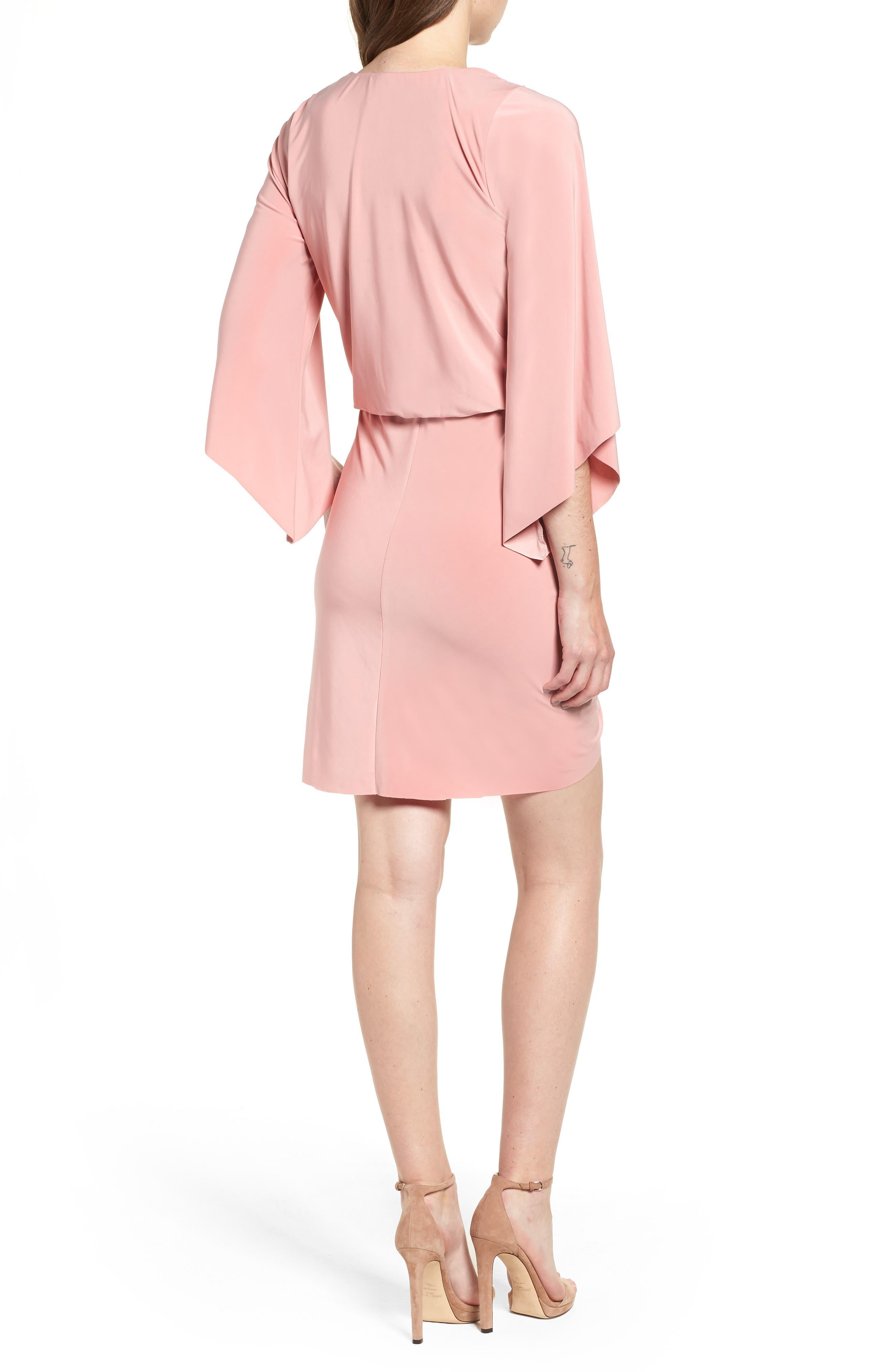 Teget Knot Front Dress,                             Alternate thumbnail 2, color,                             DUSTY ROSE