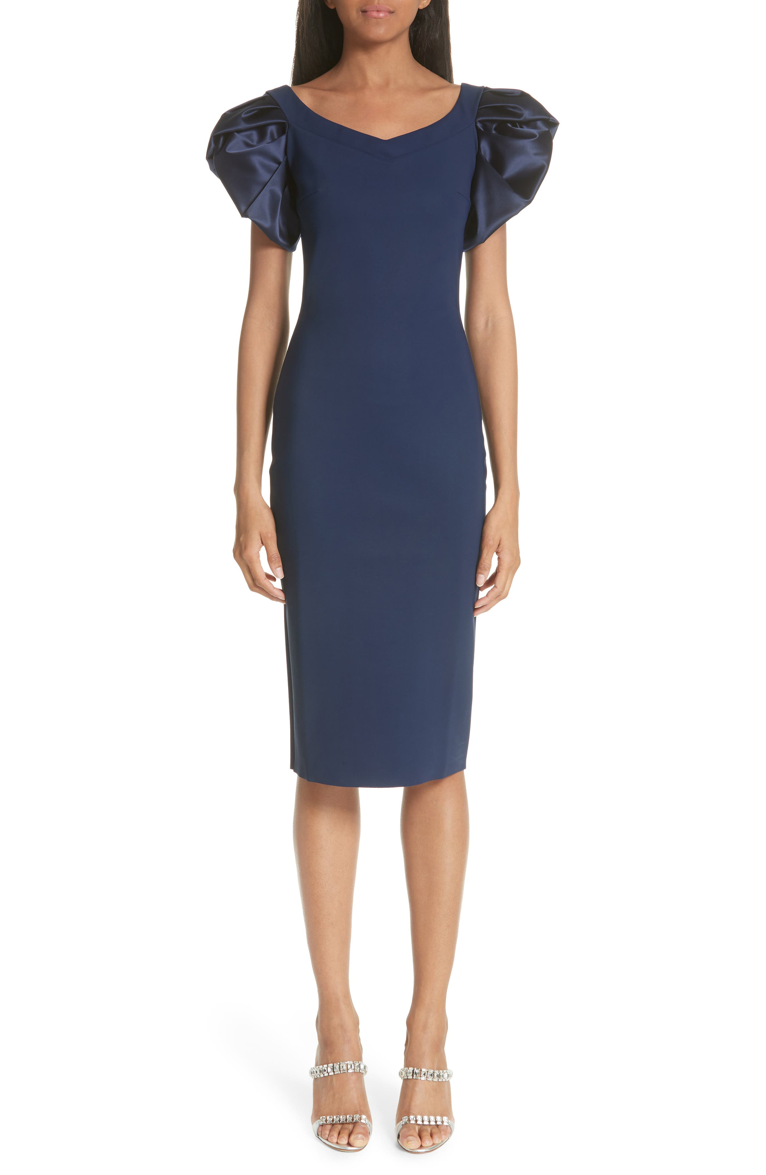 Chiara Boni La Petite Robe Eunice Jersey Sheath Dress, Blue