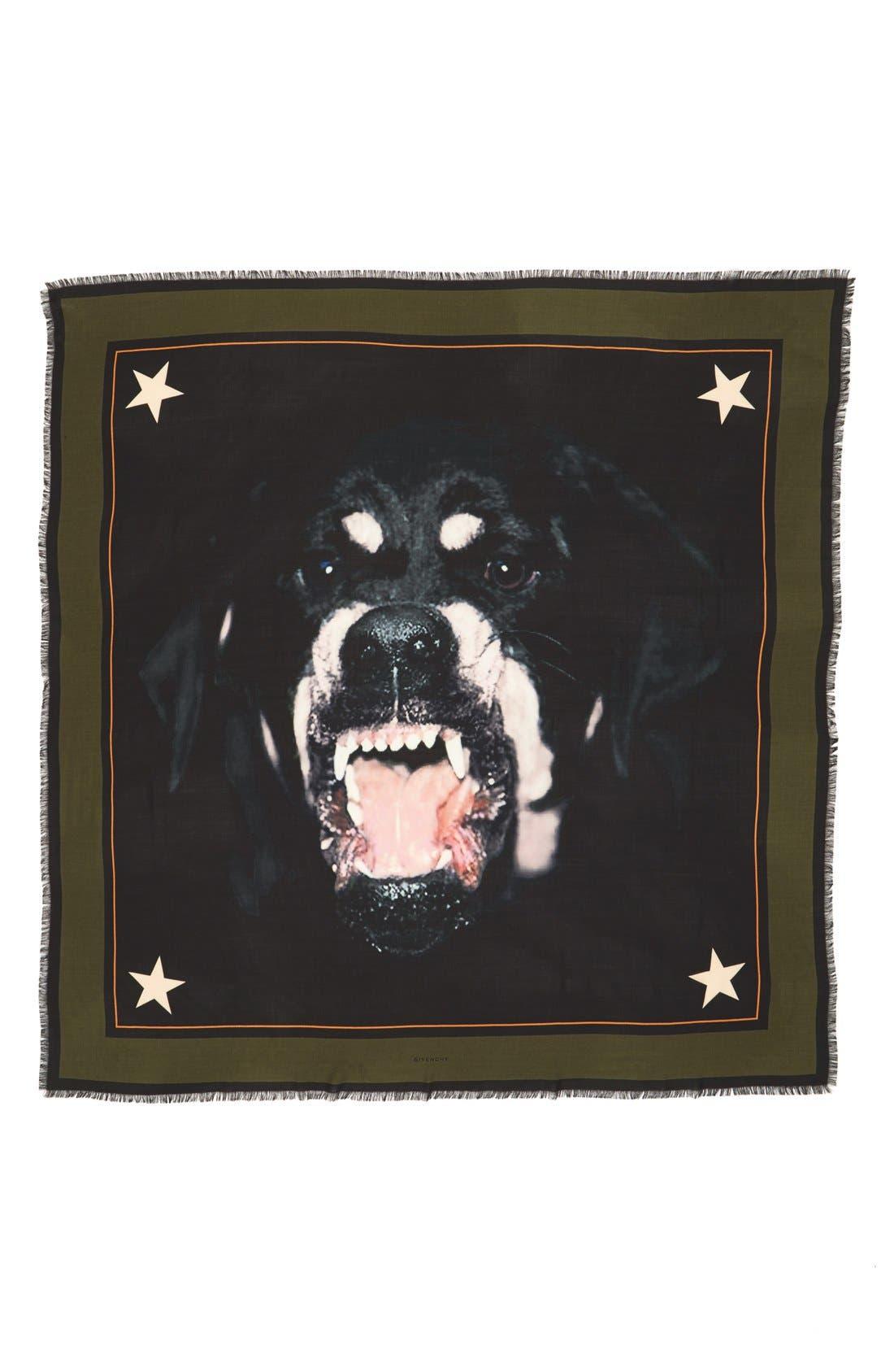 'Rottweiler' Silk Blend Scarf,                             Alternate thumbnail 14, color,