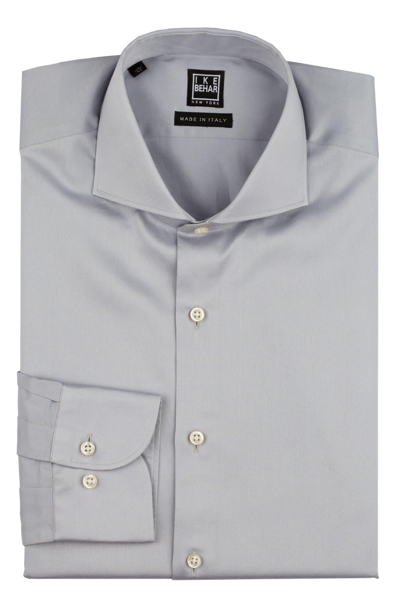 Regular Fit Solid Dress Shirt,                             Alternate thumbnail 5, color,                             020