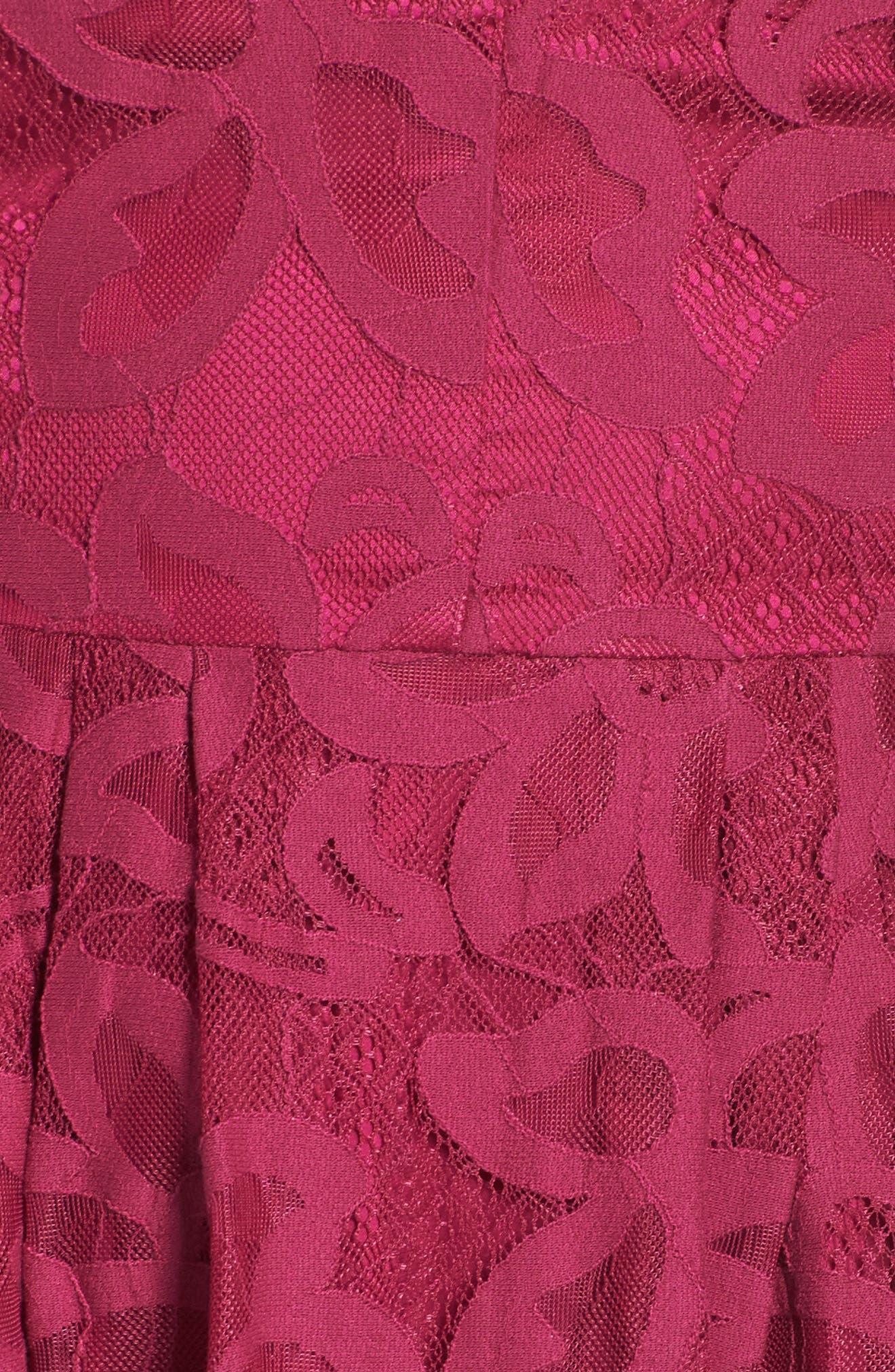 Celeste Scalloped Lace Fit & Flare Dress,                             Alternate thumbnail 5, color,