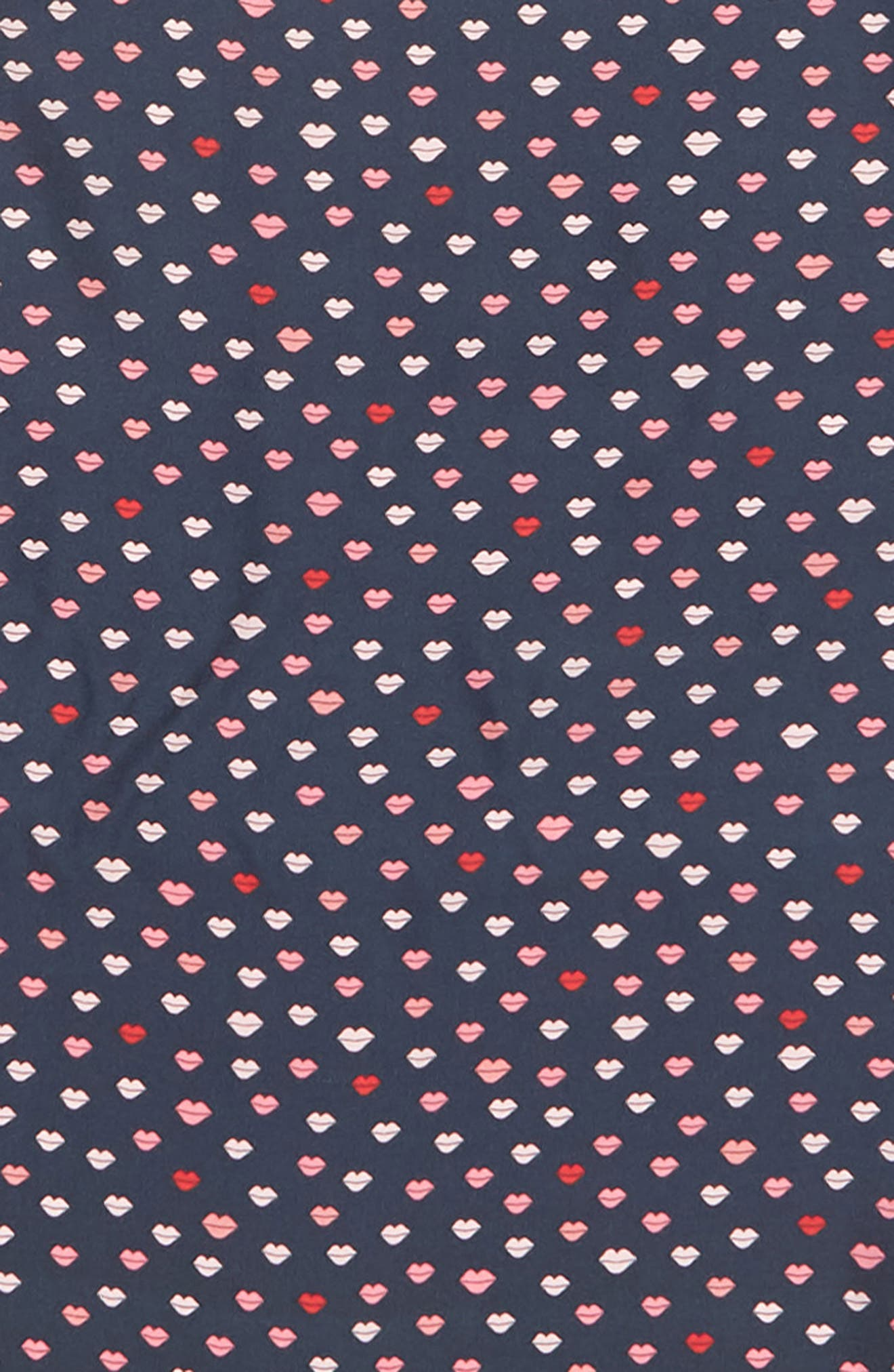 KATE SPADE NEW YORK,                             lips diamond silk scarf,                             Alternate thumbnail 4, color,                             PARISIAN NAVY