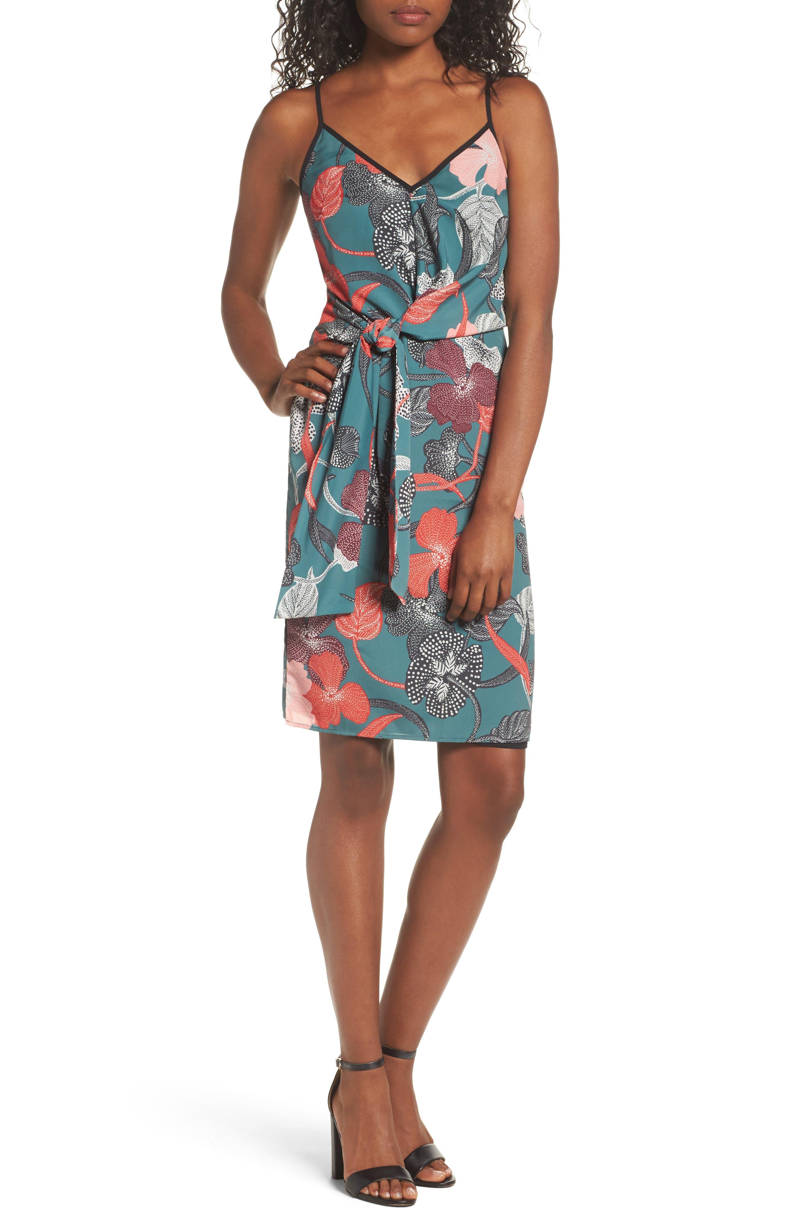 Gwen Tie Slipdress,                         Main,                         color, 340