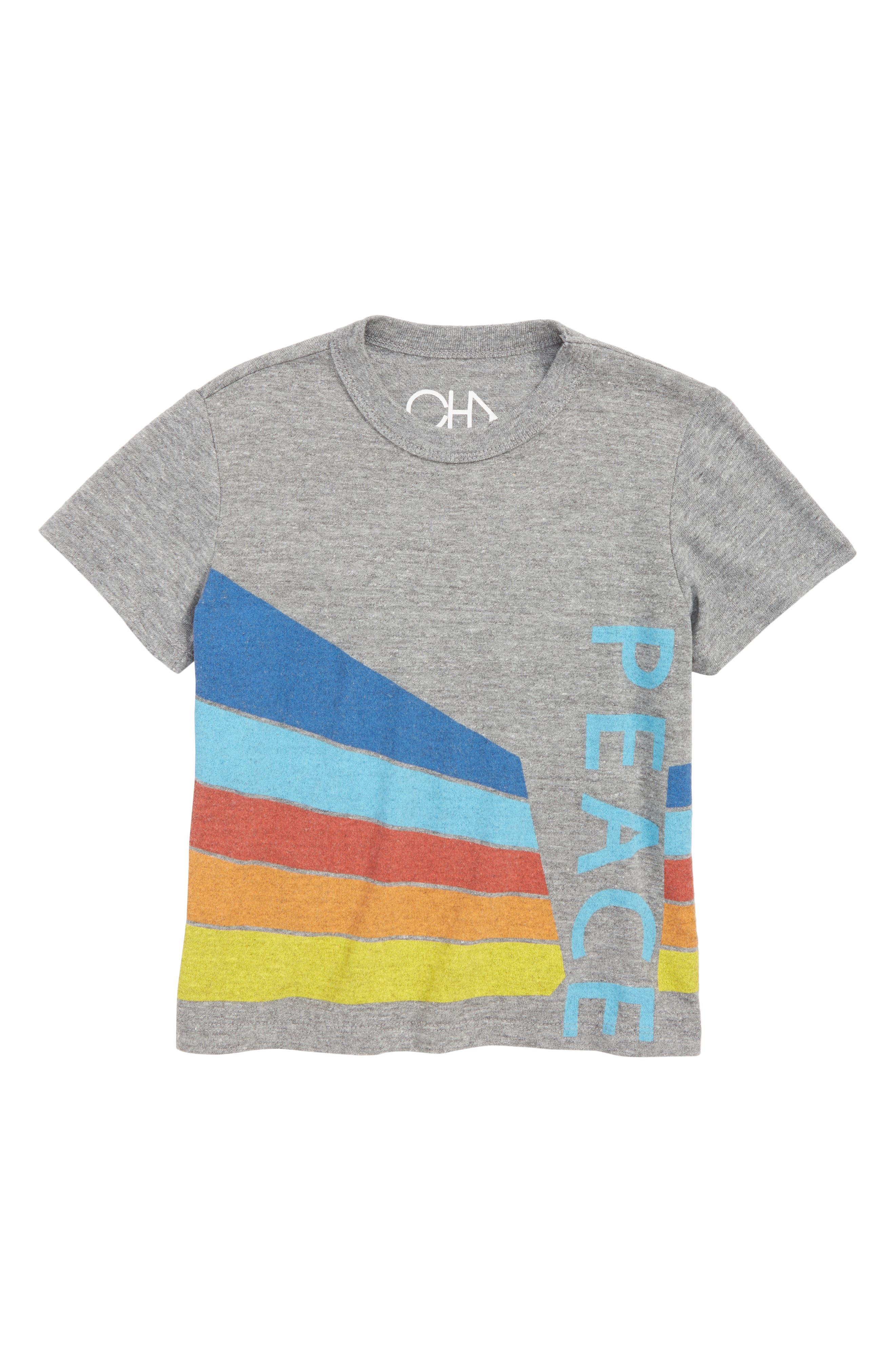 Peace Graphic T-Shirt,                             Main thumbnail 1, color,                             035
