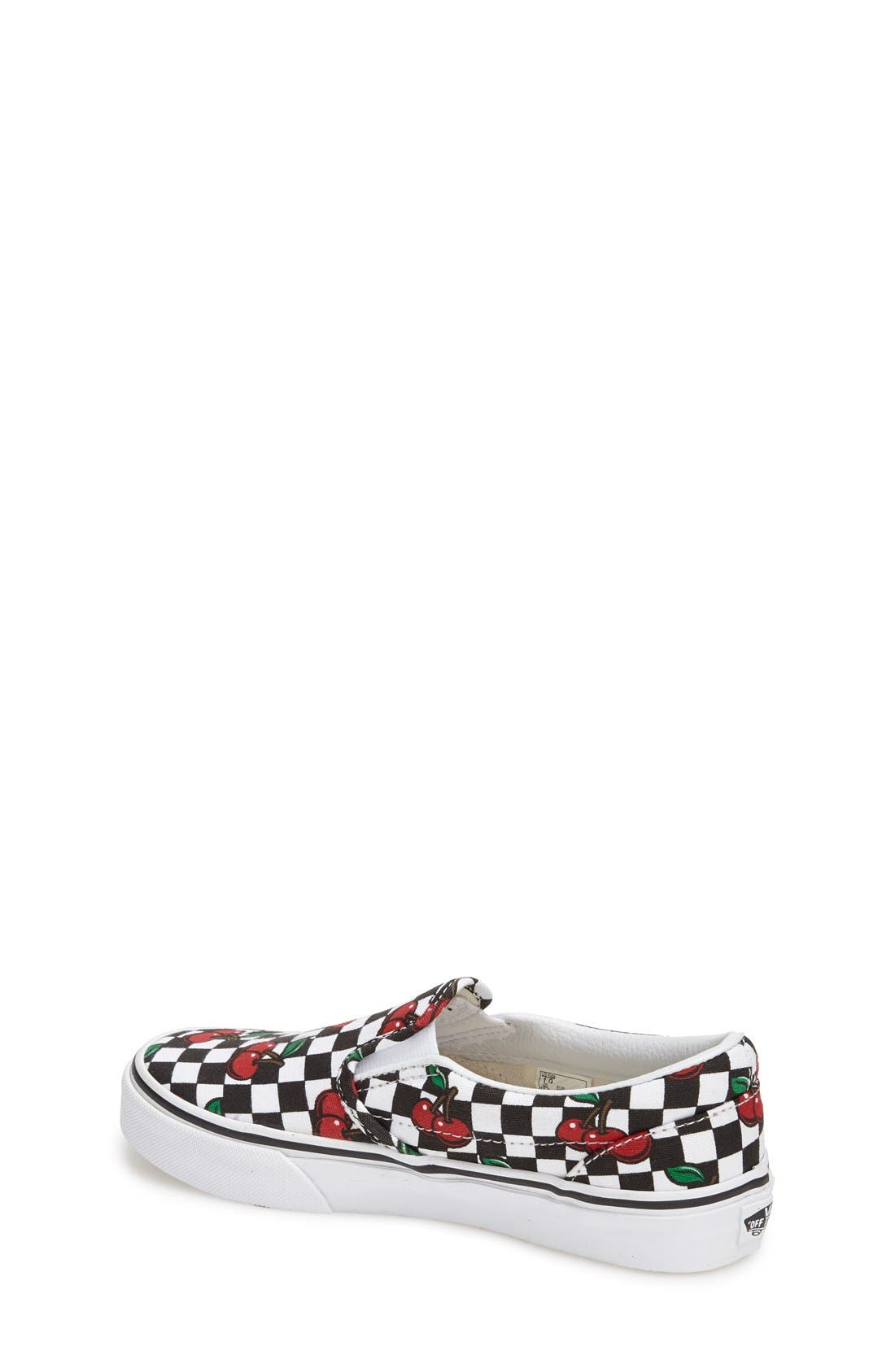 'Classic - Cherry Checkerboard' Slip-On,                             Alternate thumbnail 2, color,                             001