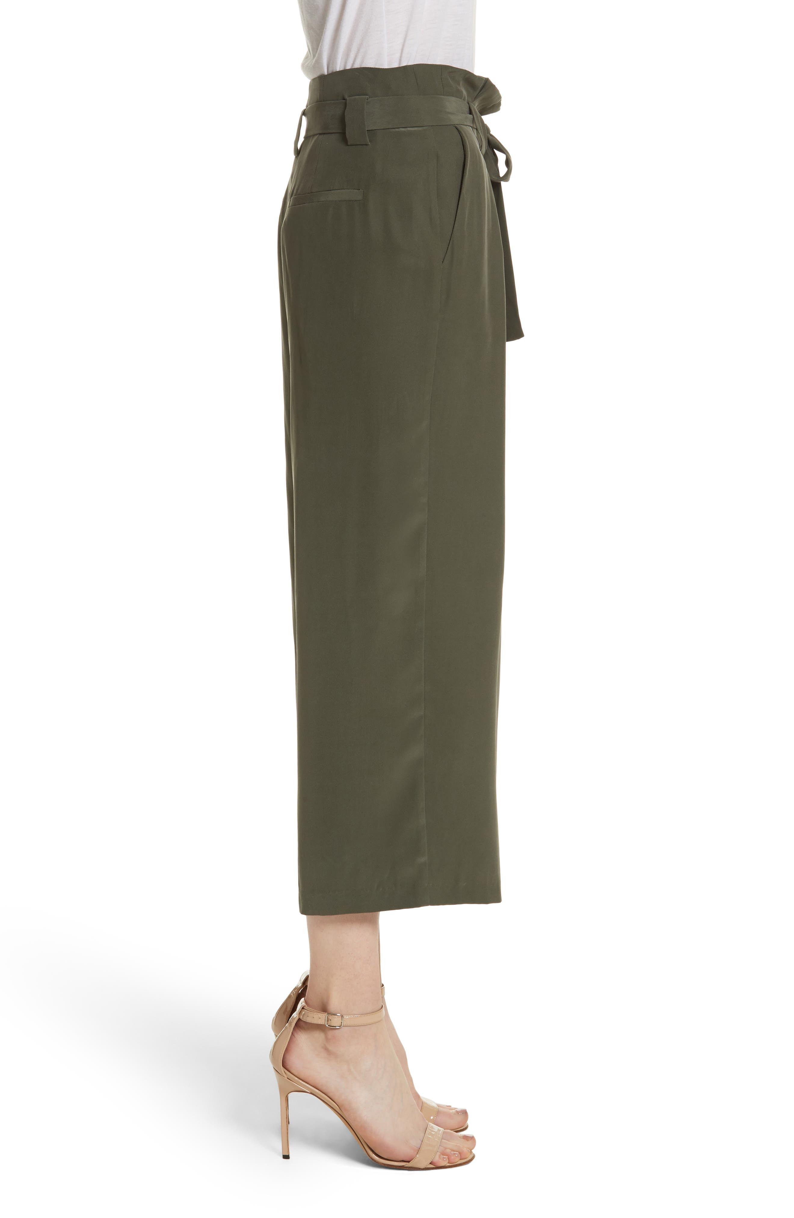 Samira Paperbag Wide Leg Pants,                             Alternate thumbnail 3, color,                             300