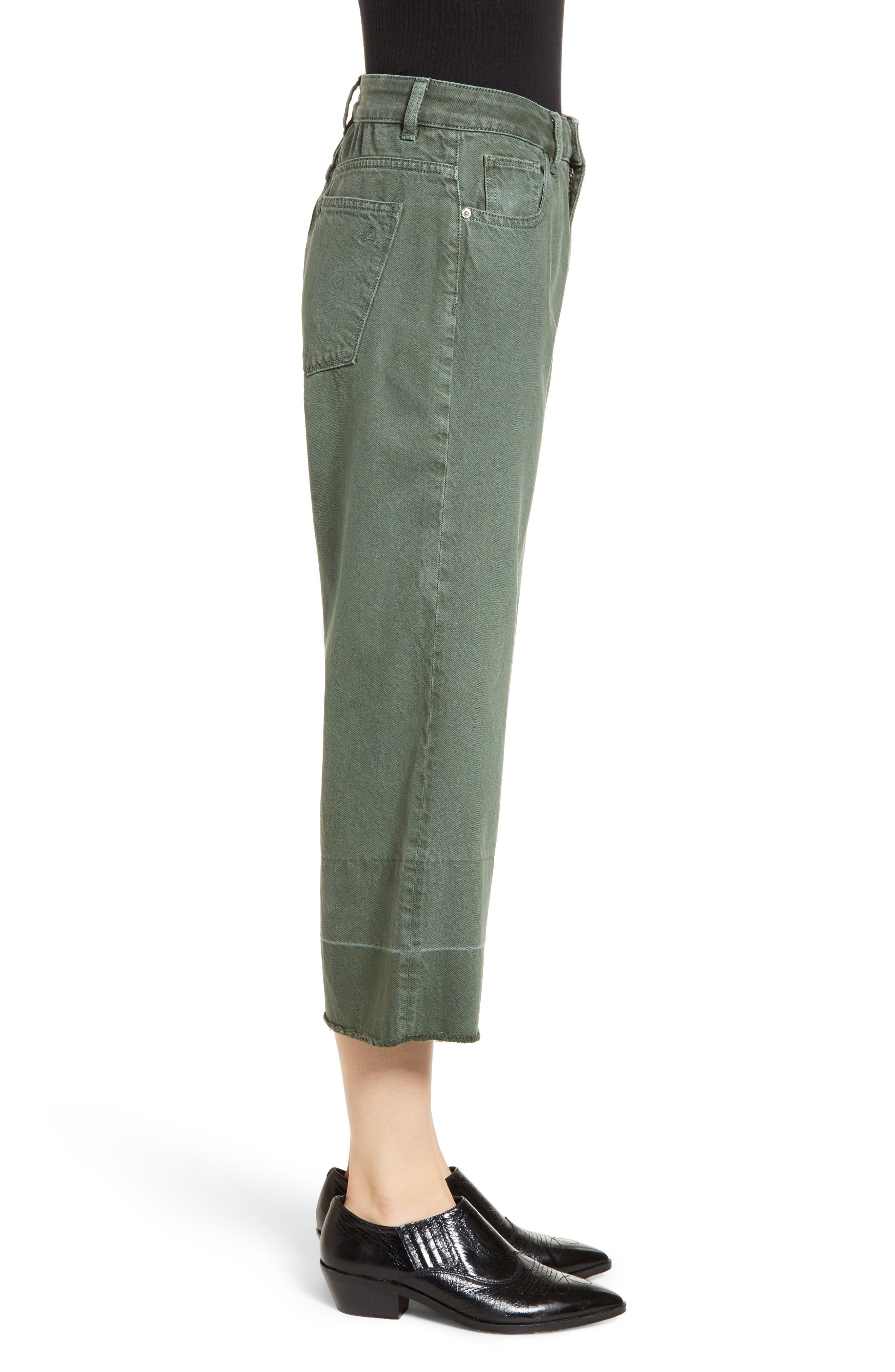 DL1961,                             Hepburn High Waist Crop Wide Leg Jeans,                             Alternate thumbnail 4, color,                             AMALFI