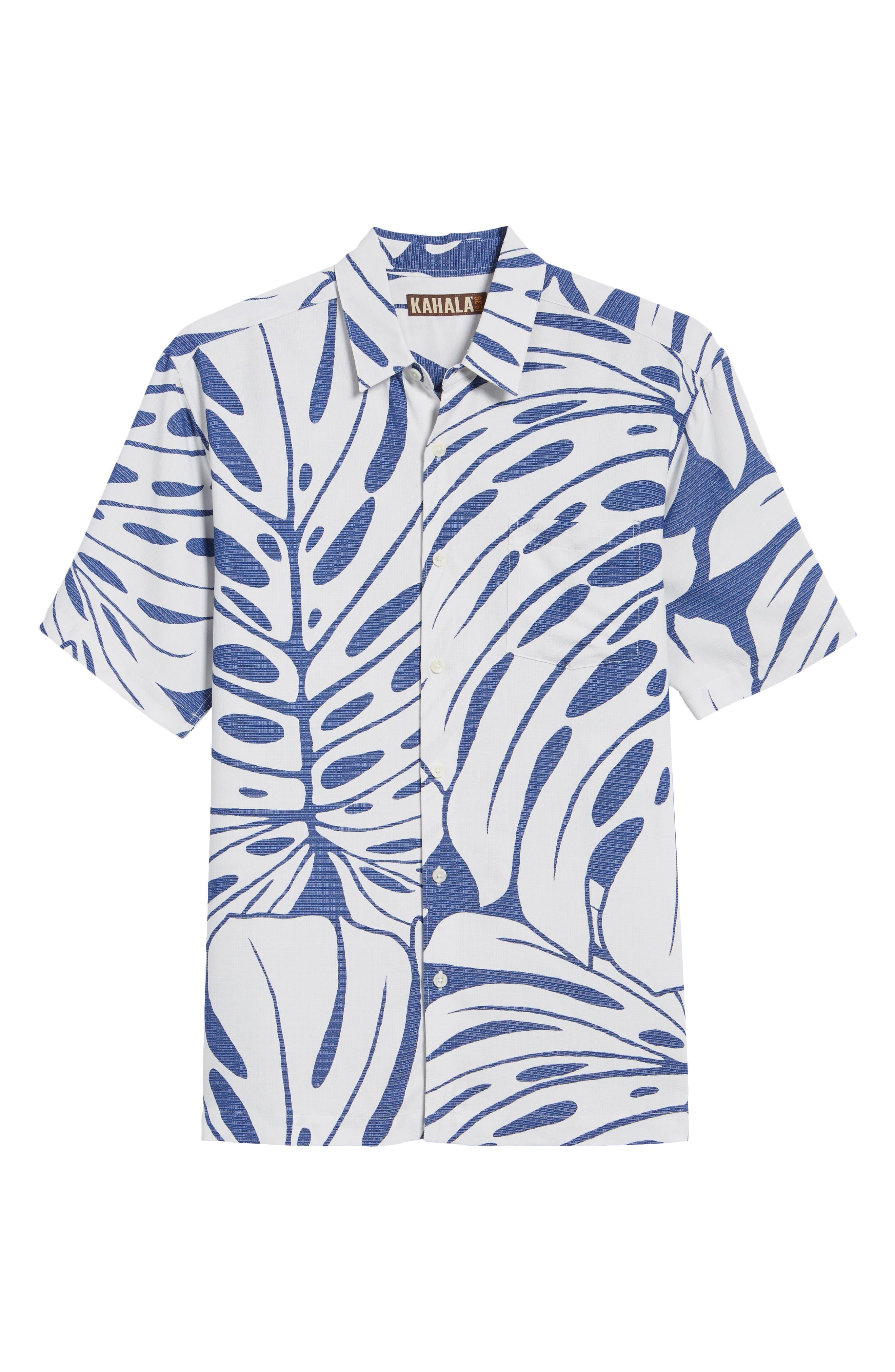 Syri's Leaf Classic Fit Print Sport Shirt,                             Alternate thumbnail 12, color,