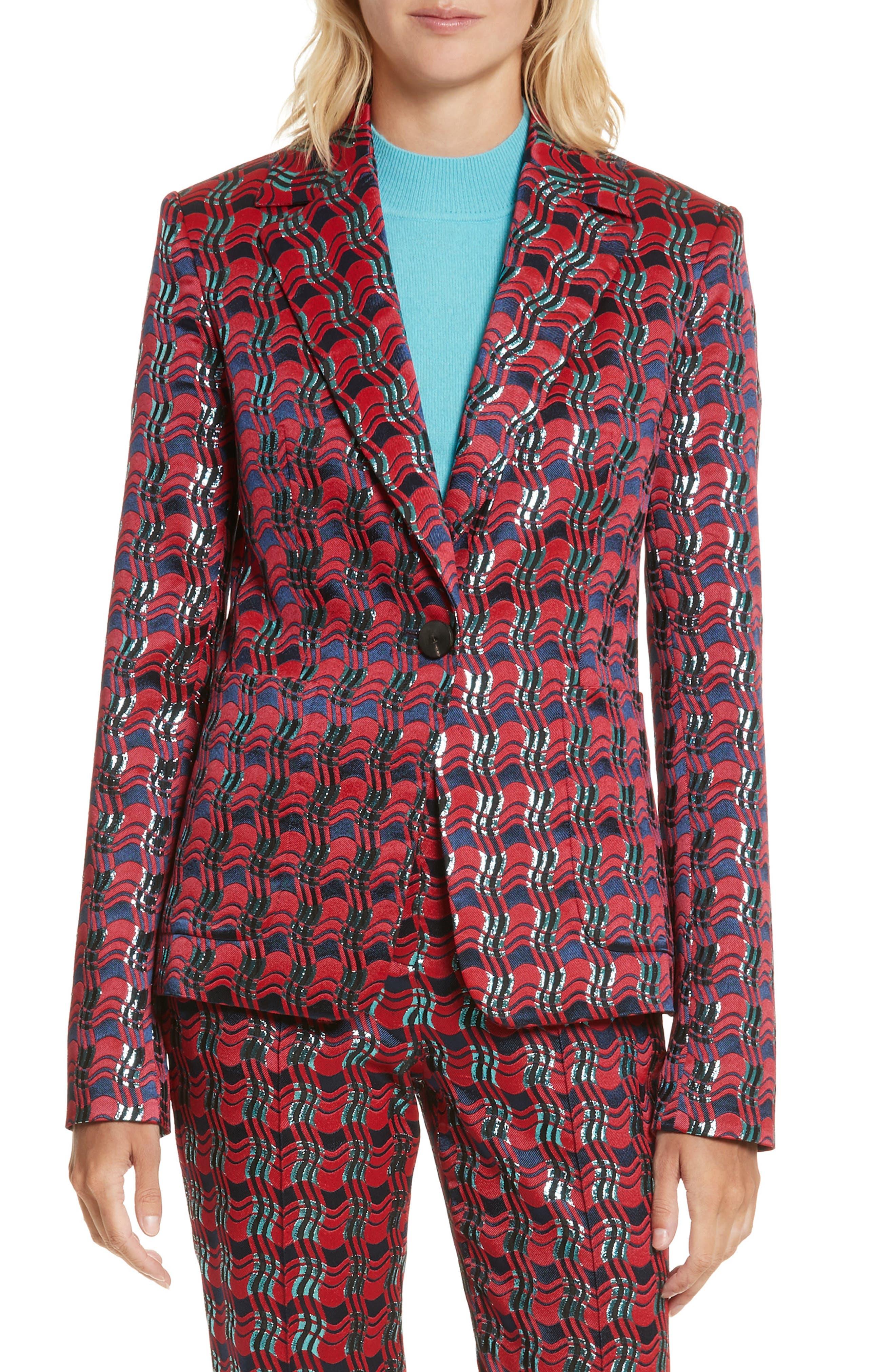 Tailored Jacquard Jacket,                             Main thumbnail 1, color,                             601