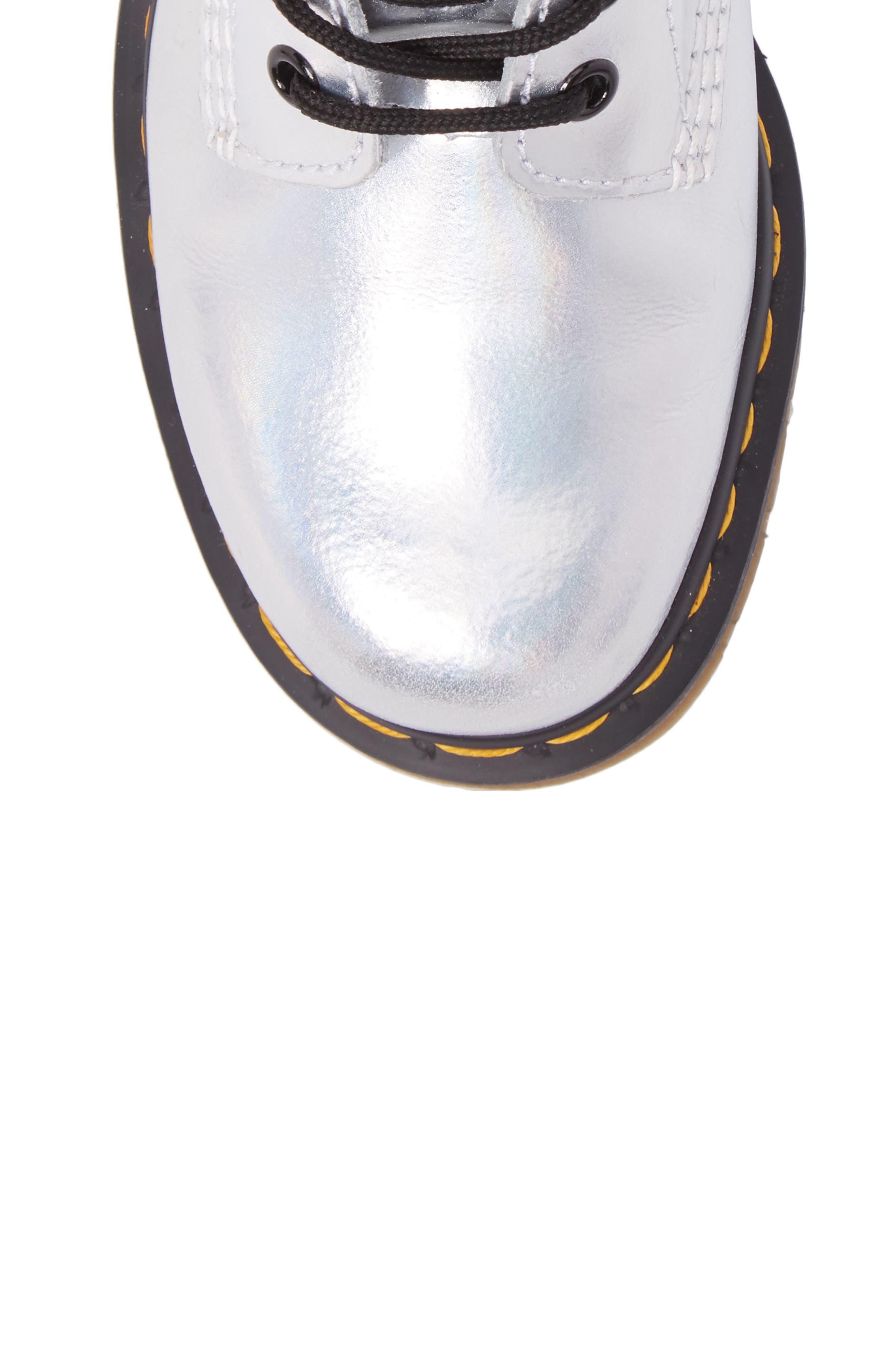 Pascal Metallic Combat Boot,                             Alternate thumbnail 9, color,