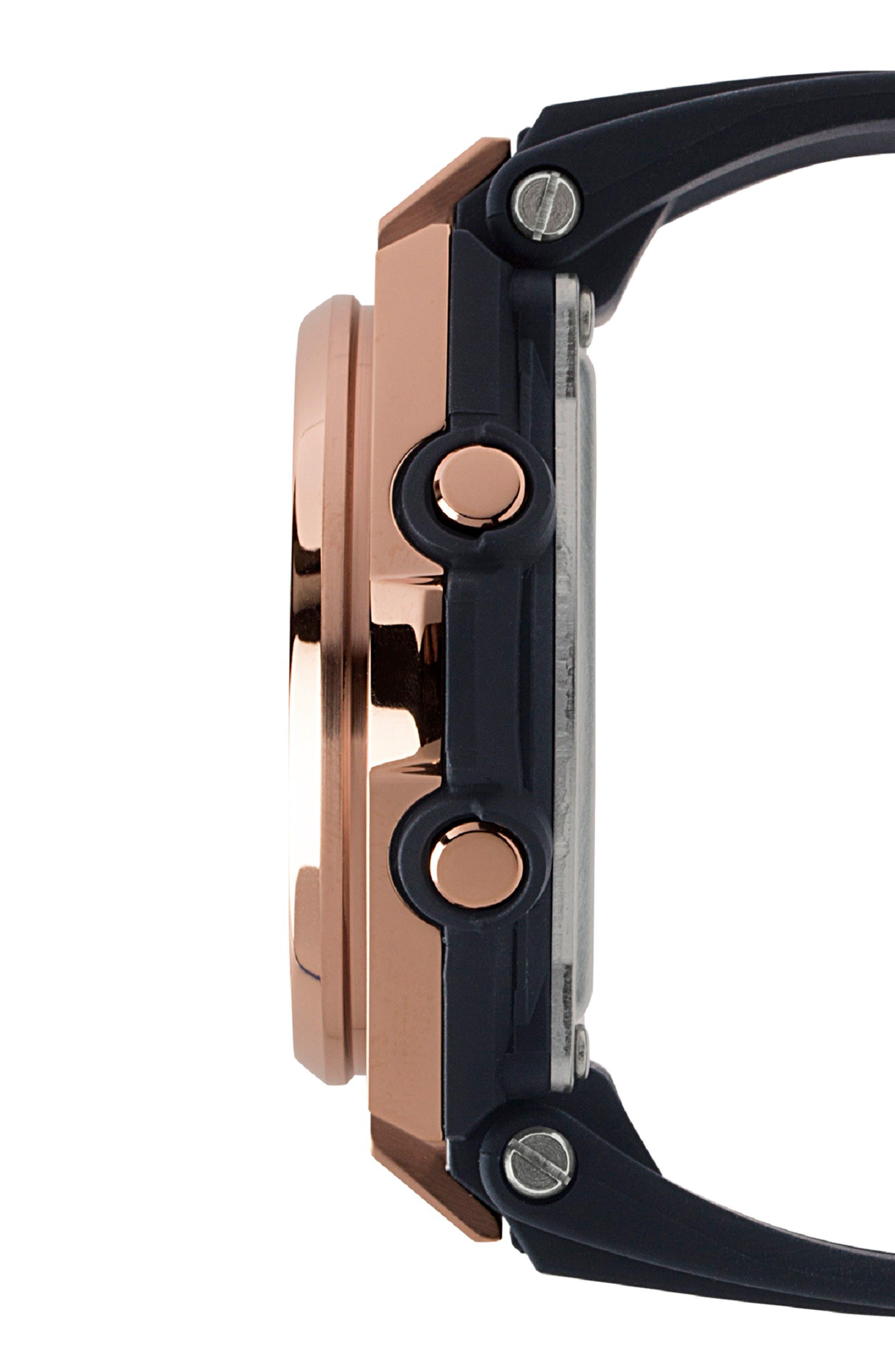 G-Shock G-MS Ana-Digi Resin Strap Watch, 38mm,                             Alternate thumbnail 3, color,                             001