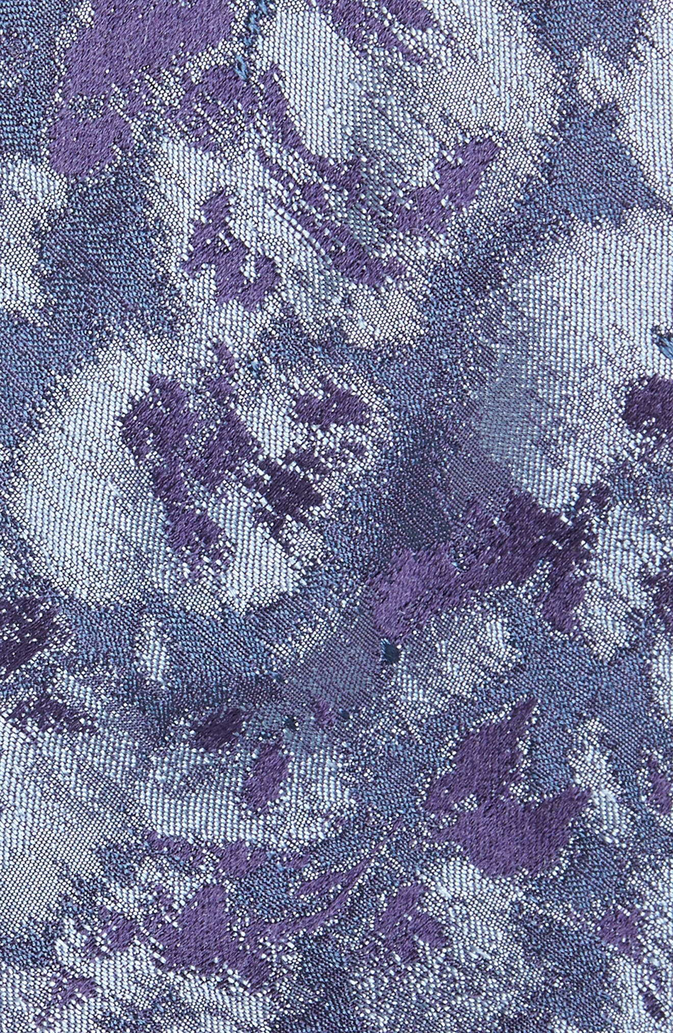 Moonlight Abstract Floral Silk Tie,                             Alternate thumbnail 6, color,