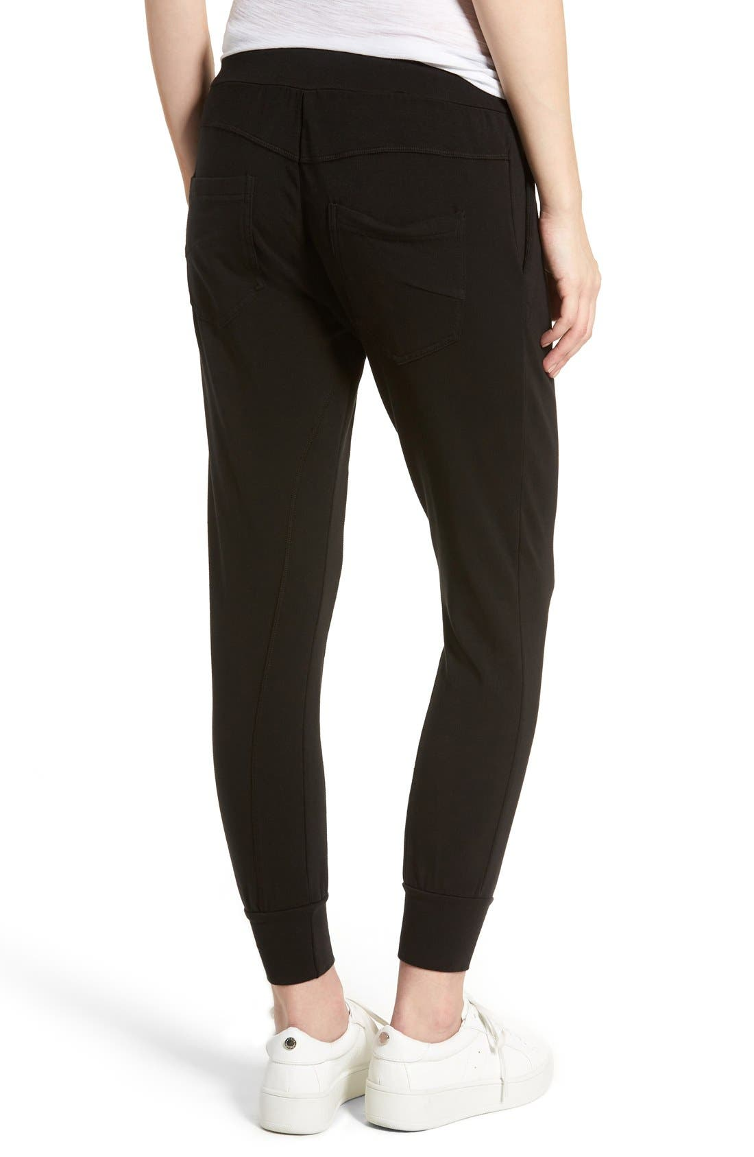 Jamie Stretch Jersey Jogger Pants,                             Alternate thumbnail 5, color,                             001