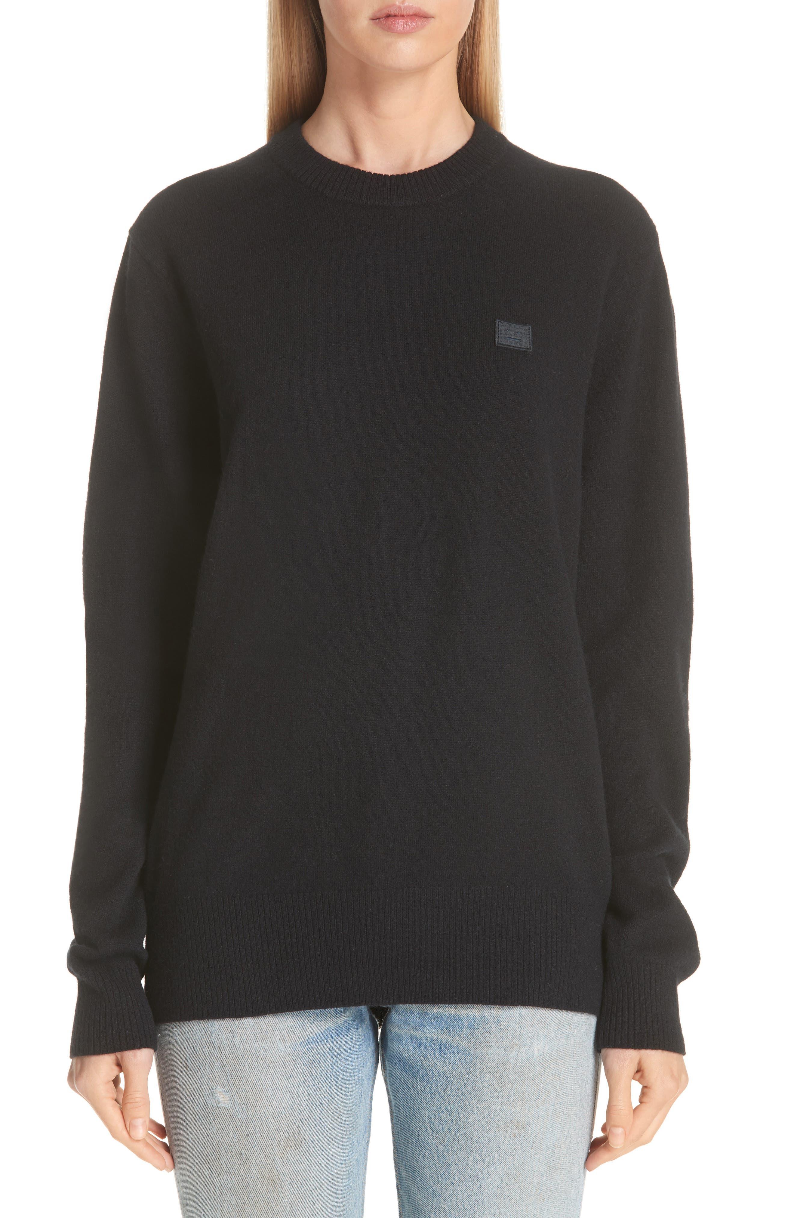Acne Studios Nalon Wool Sweater, Black
