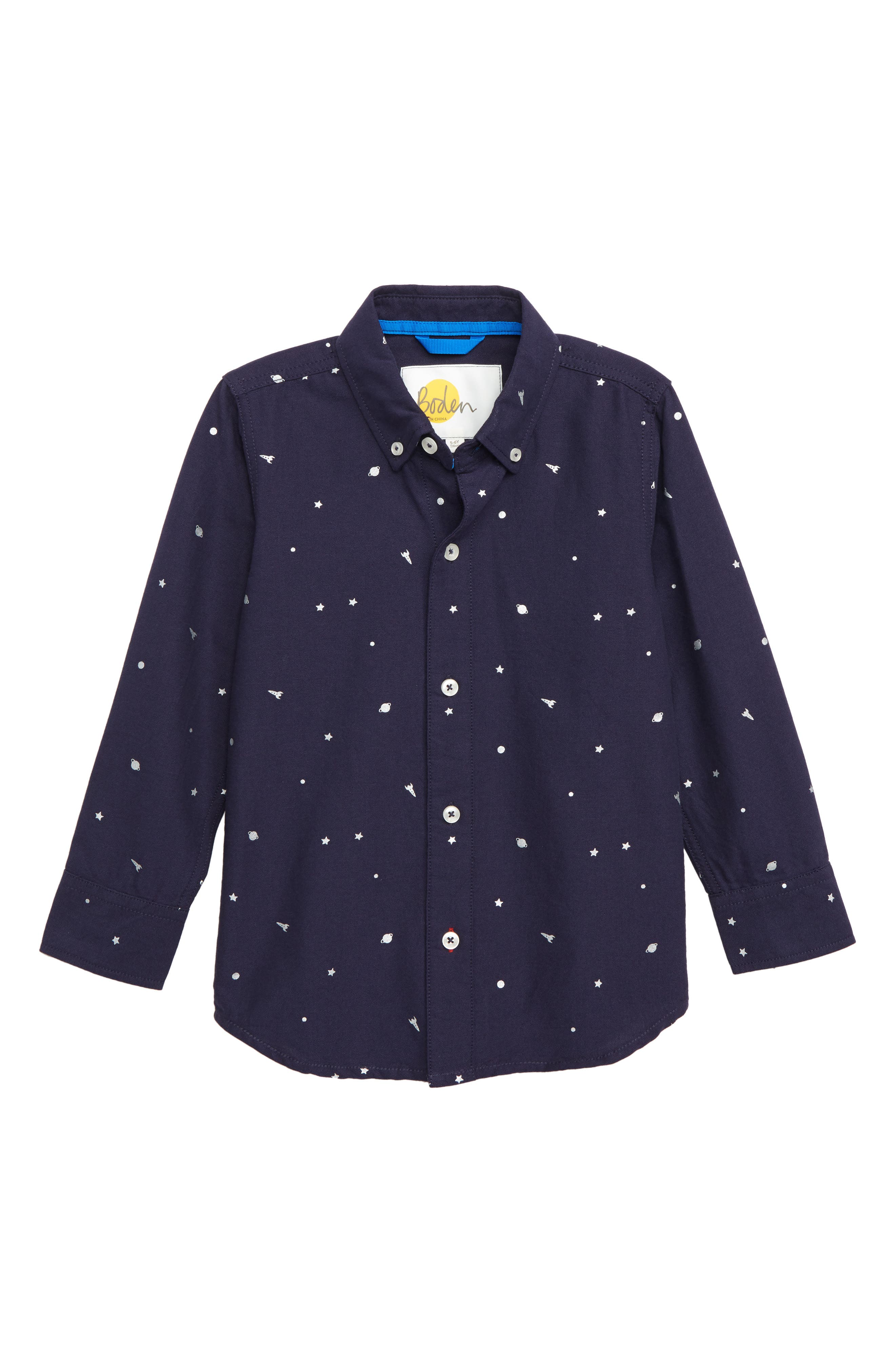 Space Party Shirt, Main, color, NAVY MARL OUTER SPACE